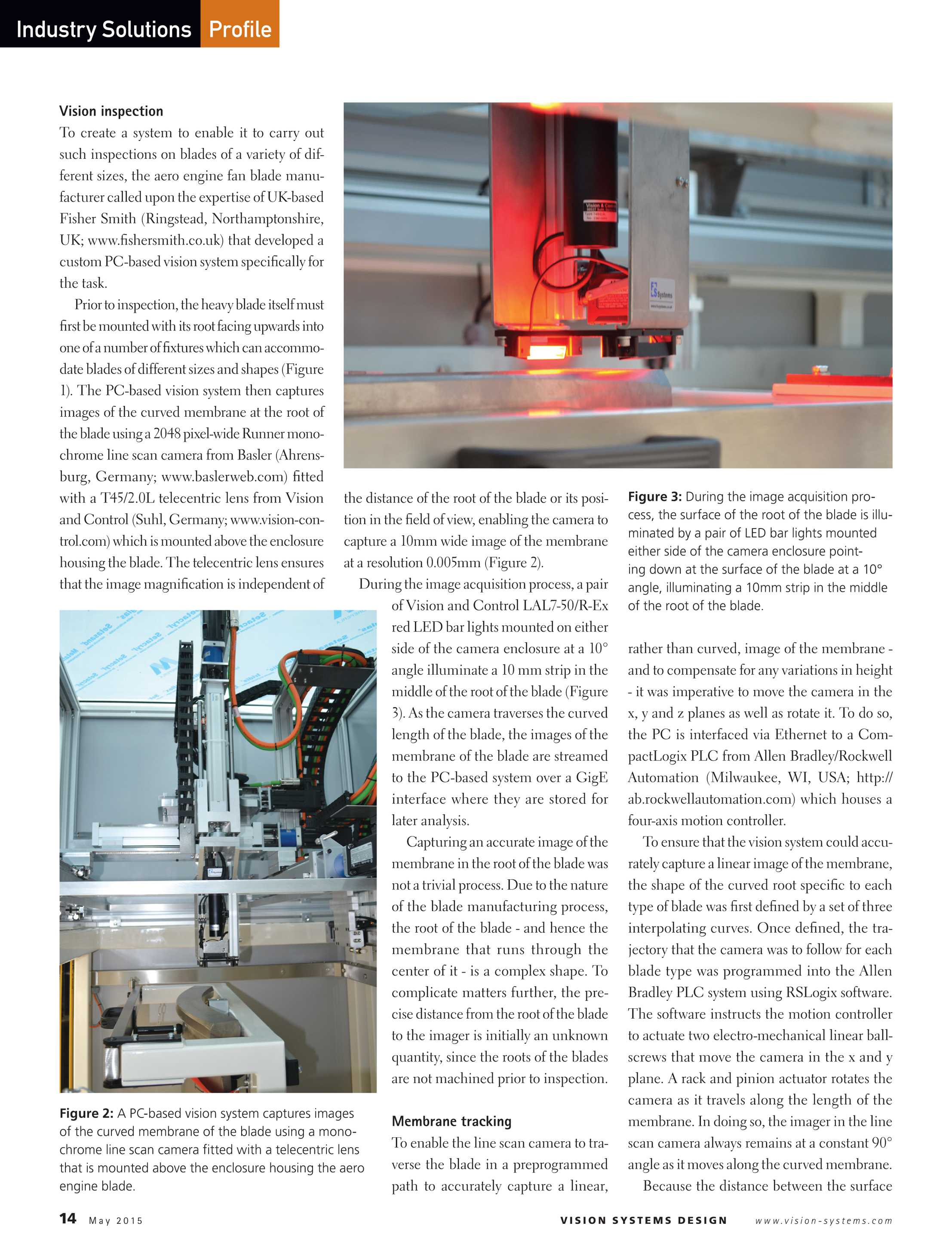 Vision Systems - May 2015 - page 14