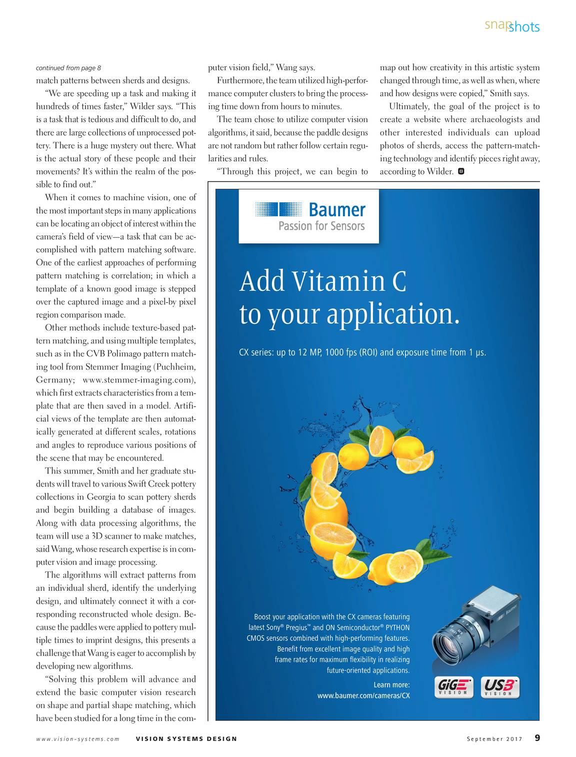 Vision Systems - September 2017 - page 9