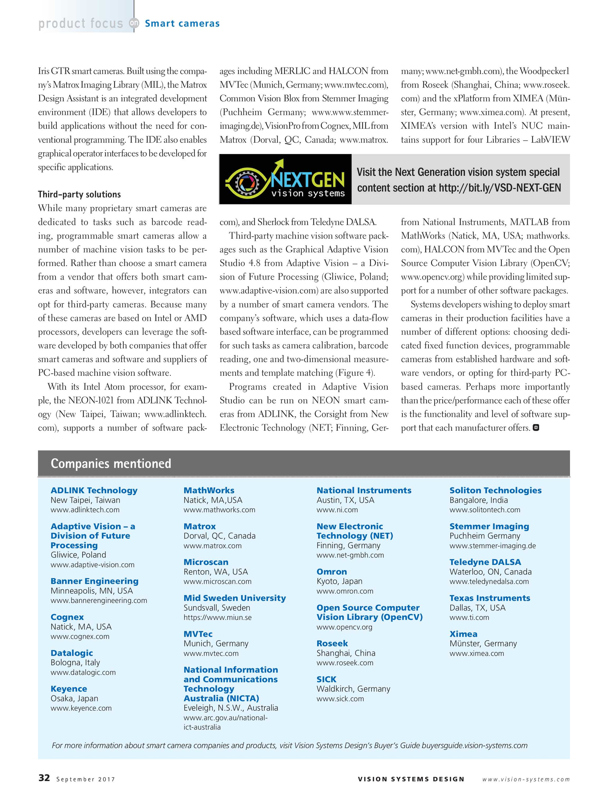 Vision Systems - September 2017 - page 32