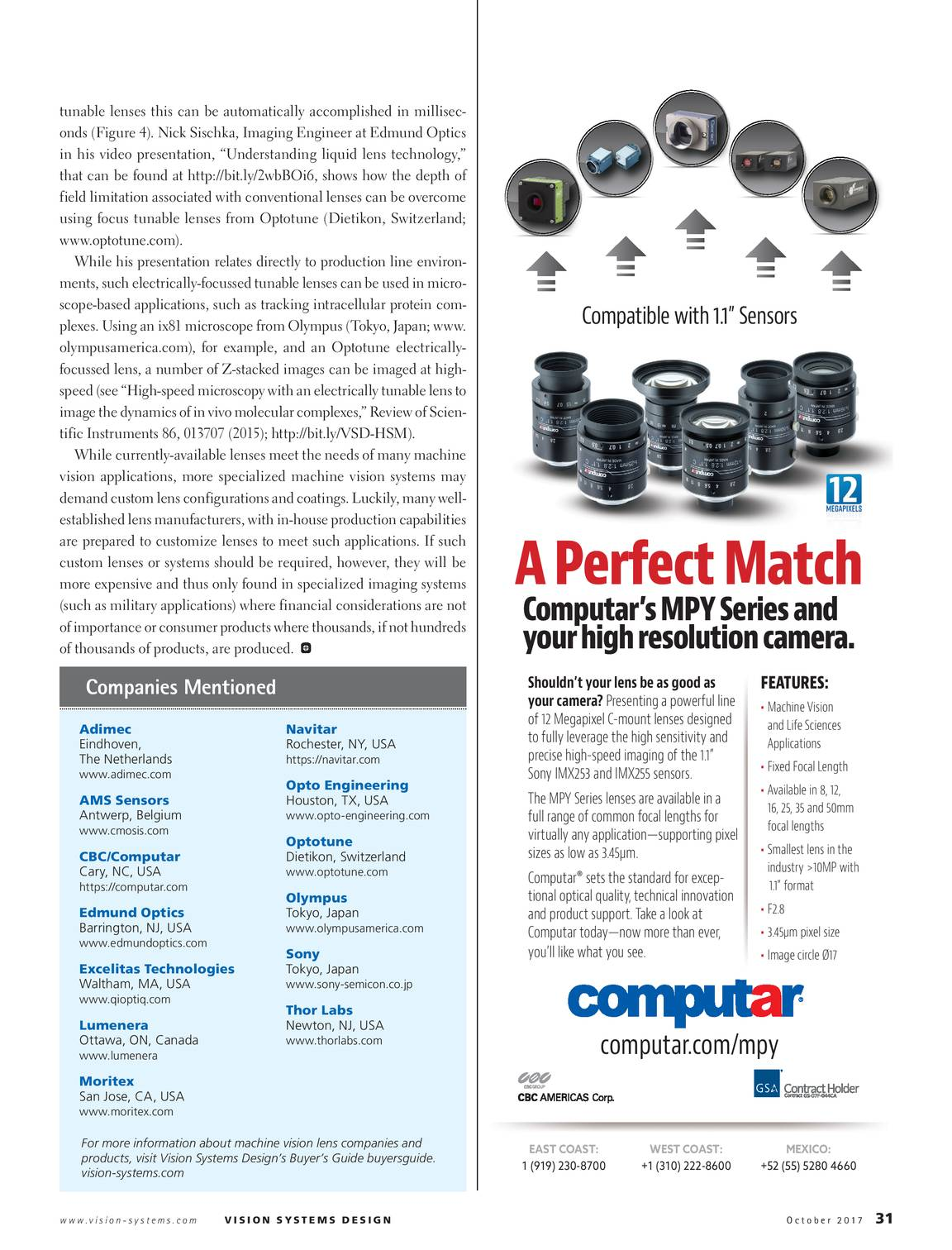 Vision Systems - October 2017 - page 32