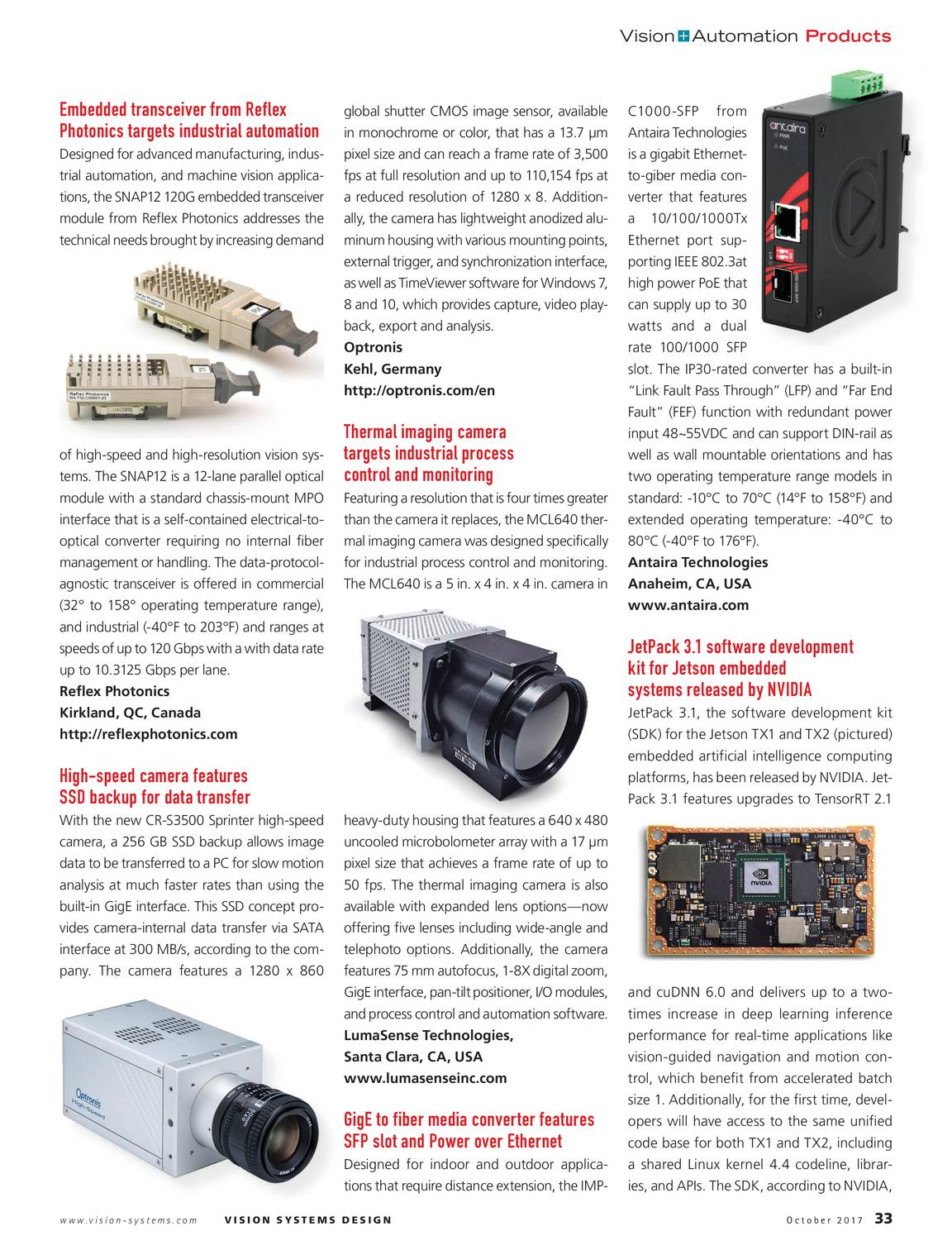 Vision Systems - October 2017 - page 34
