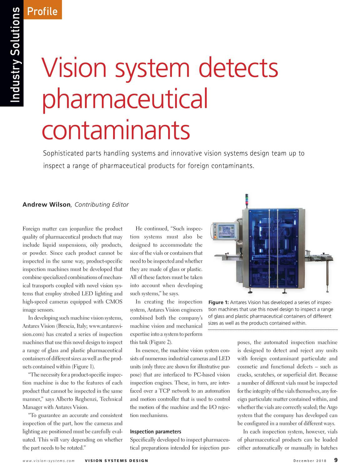 Vision Systems - December 2018 - page 8