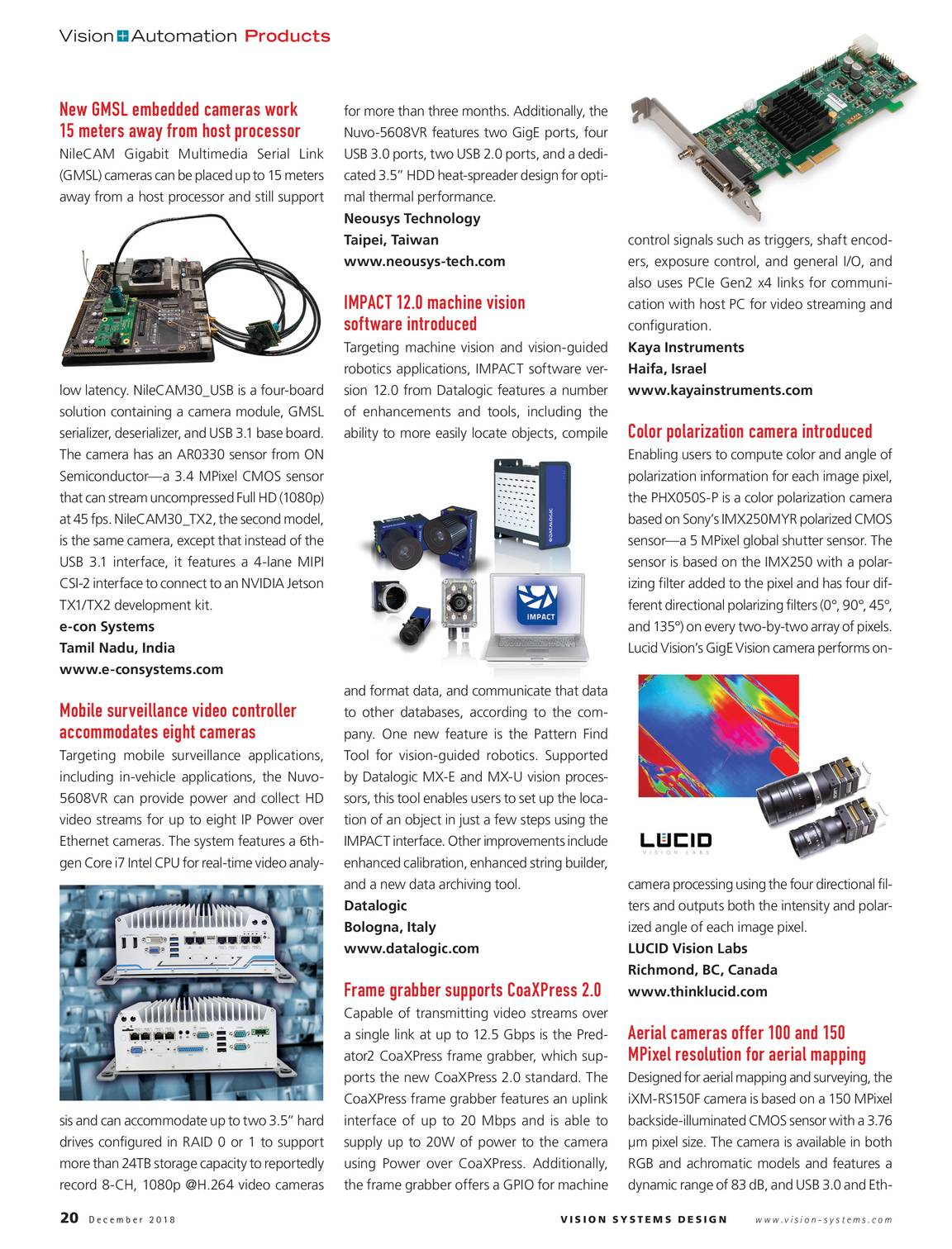 Vision Systems - December 2018 - page 19