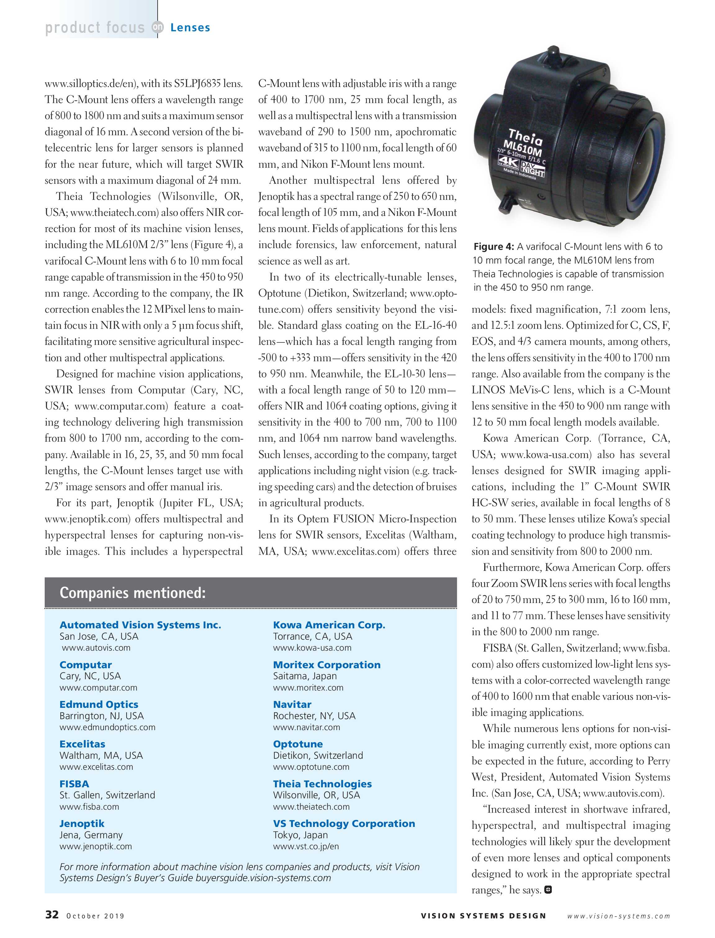 Vision Systems - October 2019 - page 32