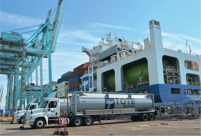 teu lng powered containerships out of jaxports blount island marine terminal