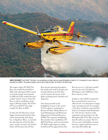 Agricultural Aviation - July/August 2014 - Page 44-45