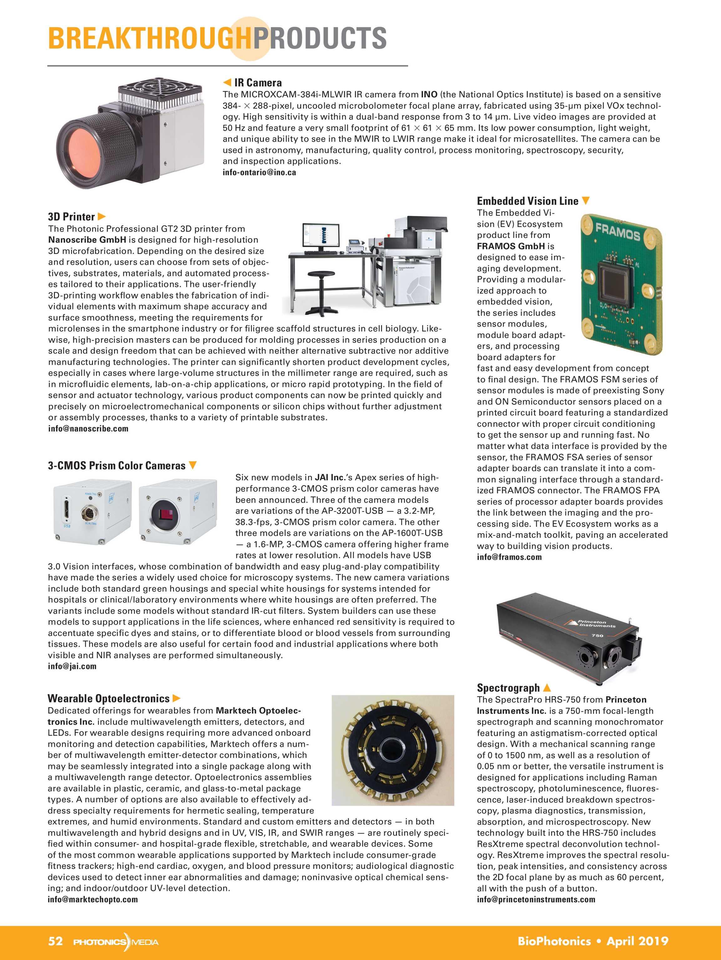 Bio Photonics - April 2019 - page 52