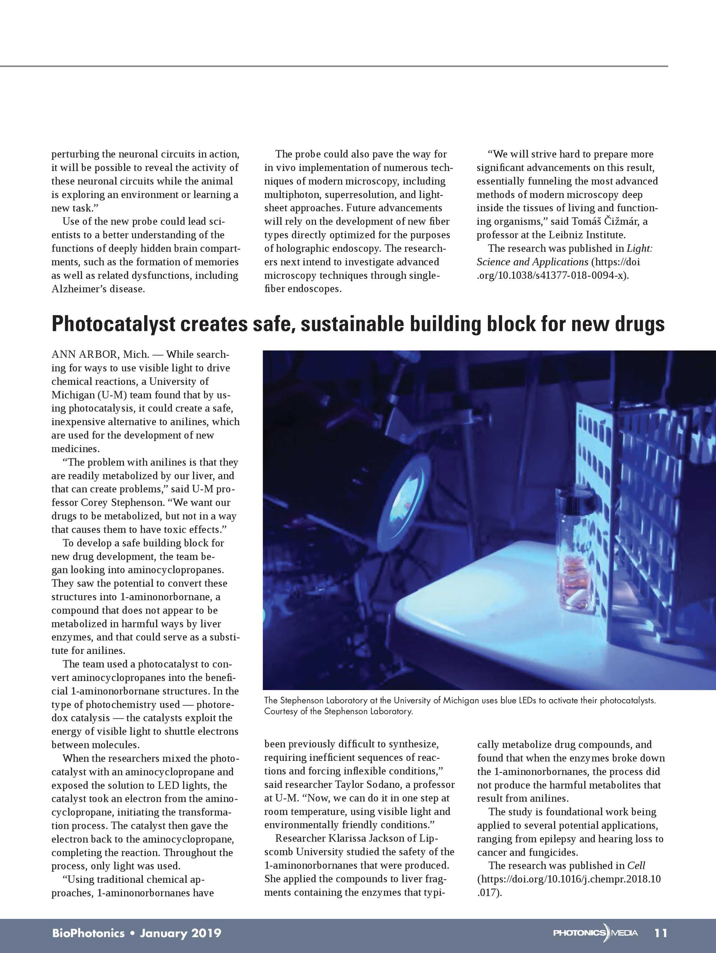 Bio Photonics - January 2019 - page 11