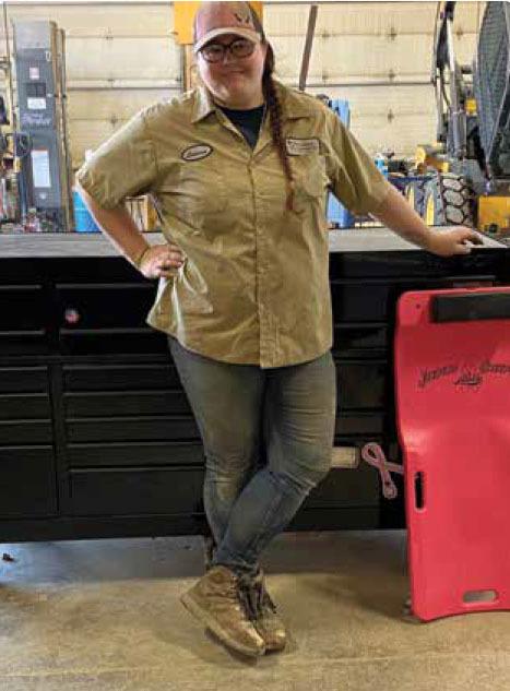 lauren wieser is in the diesel truck technology program at kirkwood community college