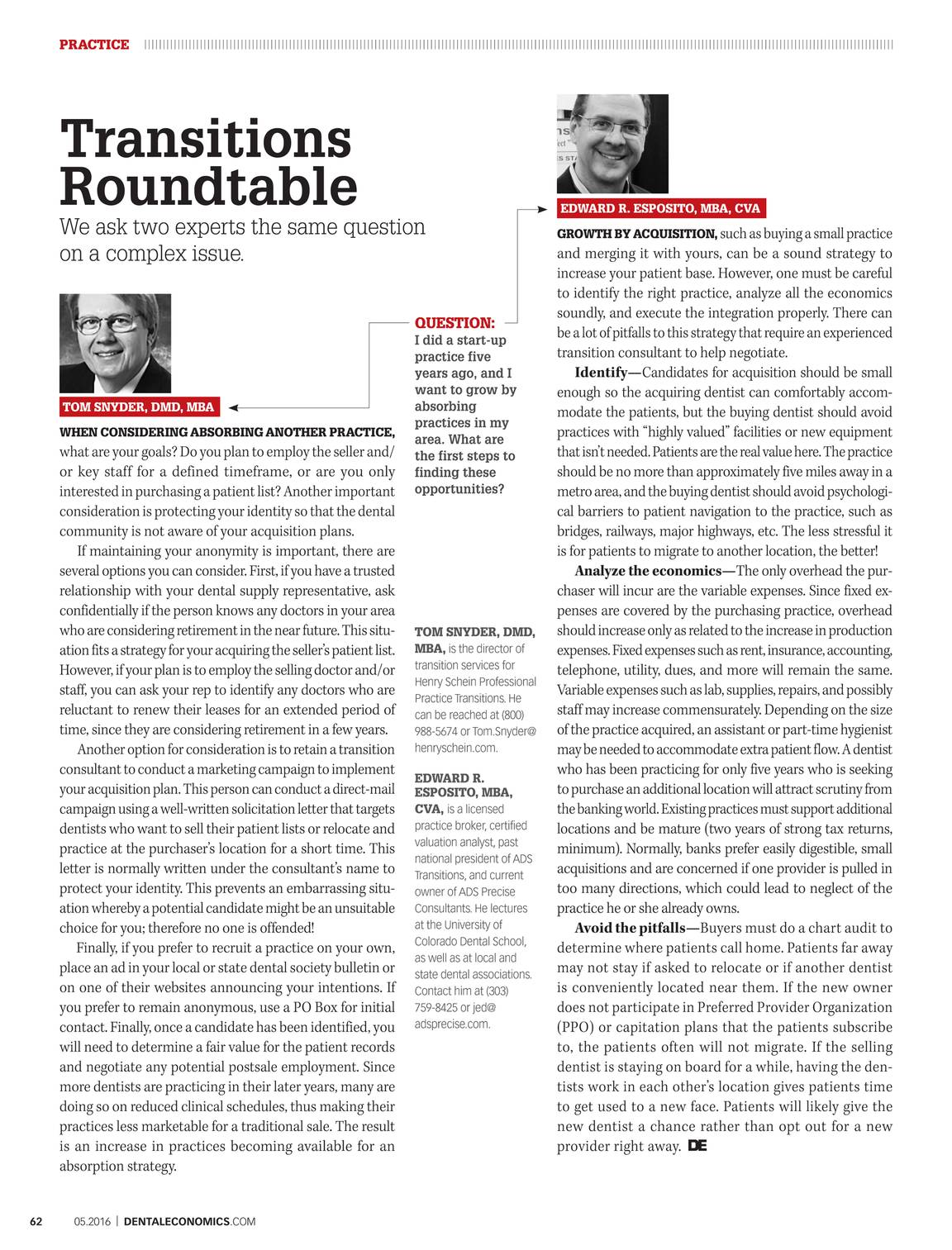 Dental Economics - May 2016 - page 63