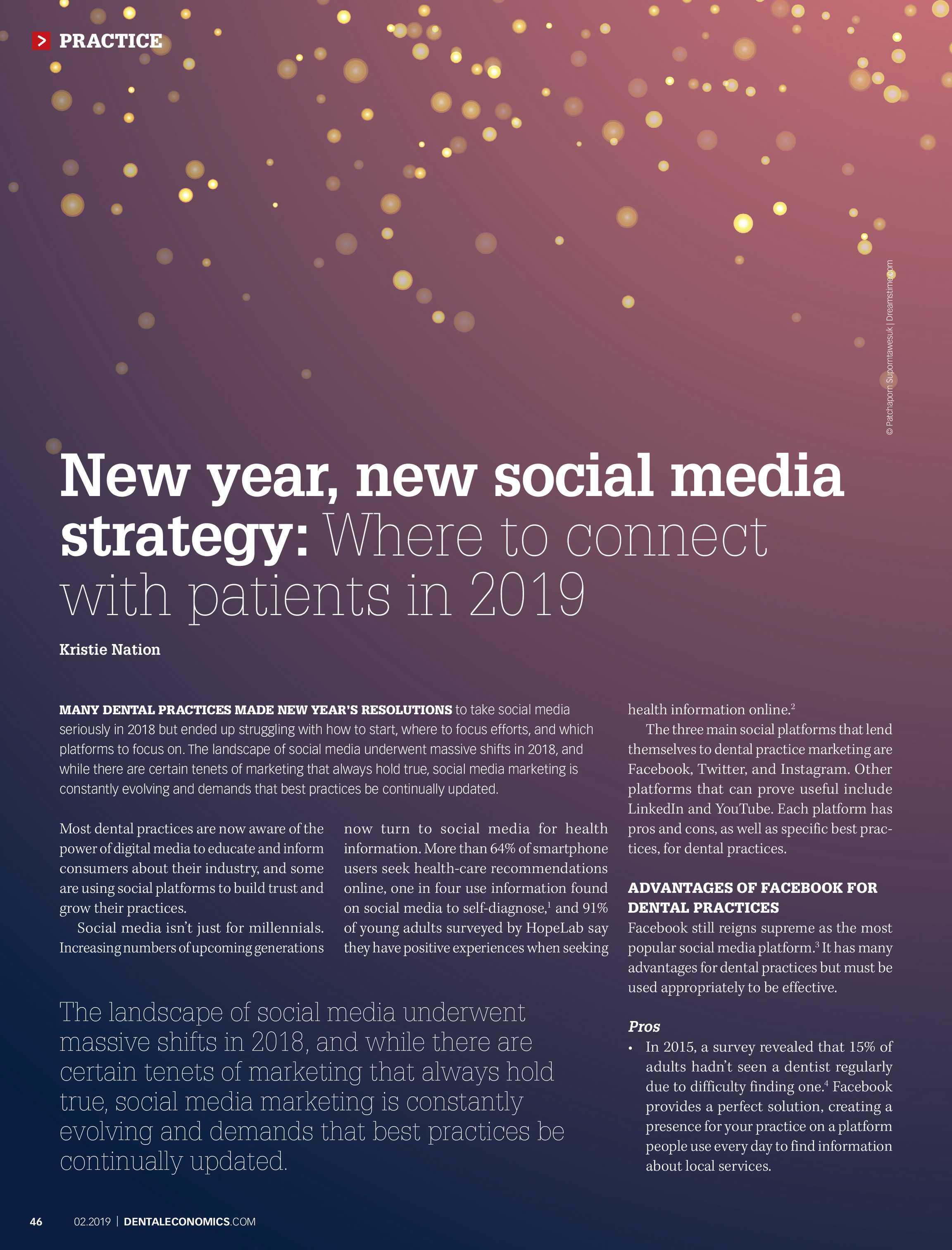Dental Economics - February 2019 - page 46
