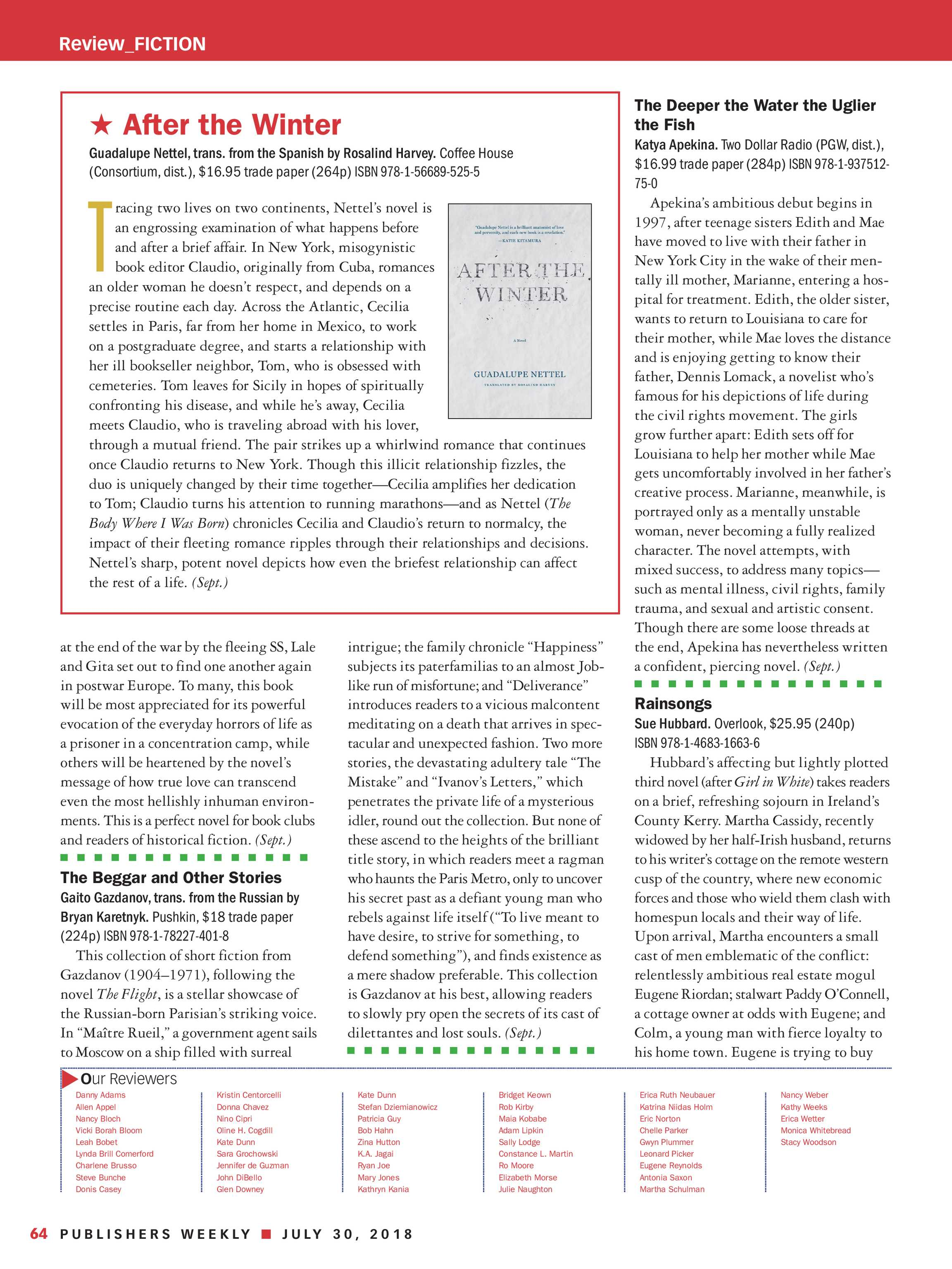 Publishers Weekly - July 30, 2018 - page 63
