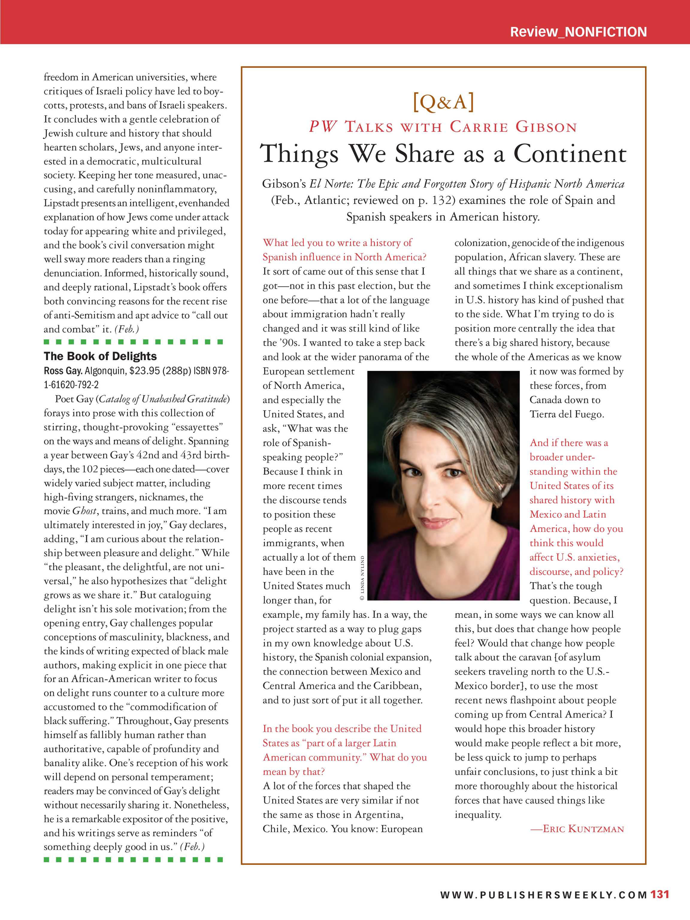Publishers Weekly - December 17, 2018 - page 131