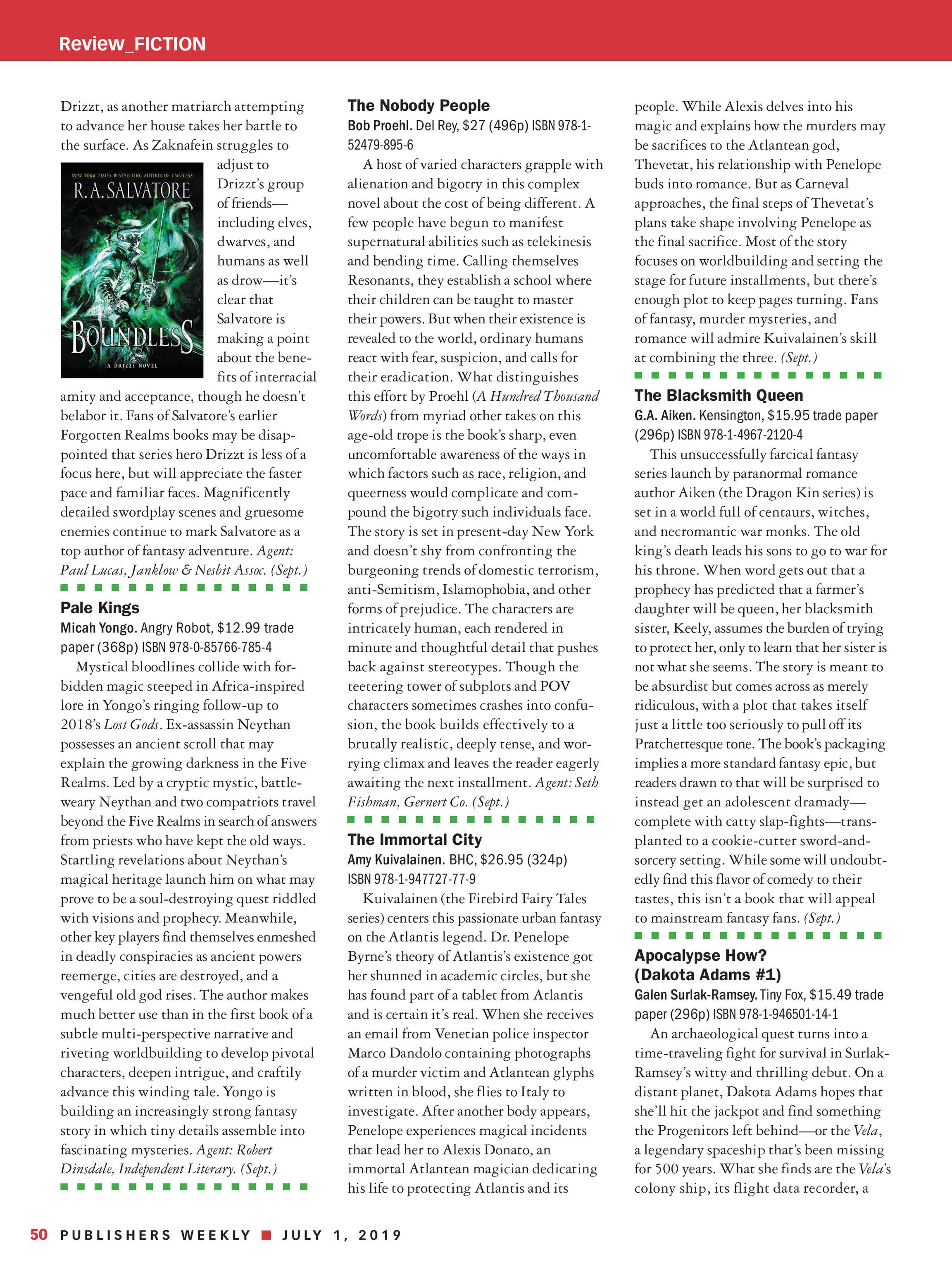 Publishers Weekly - July 1, 2019 - page 44