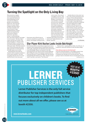 Publishers Weekly - BEA Show Daily May 13, 2016 - Page 10-11