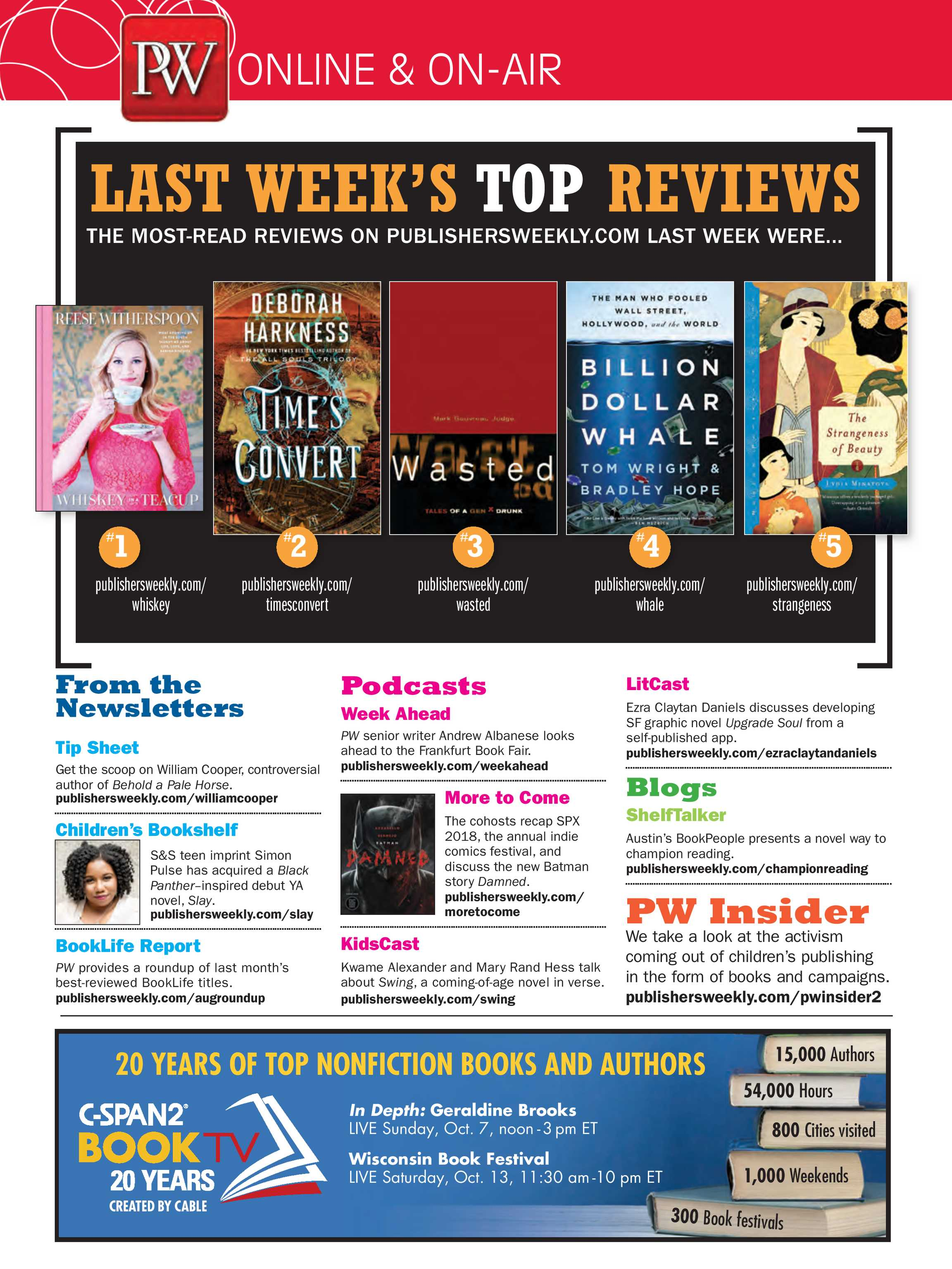 Publishers Weekly - September 24, 2018 - page G1