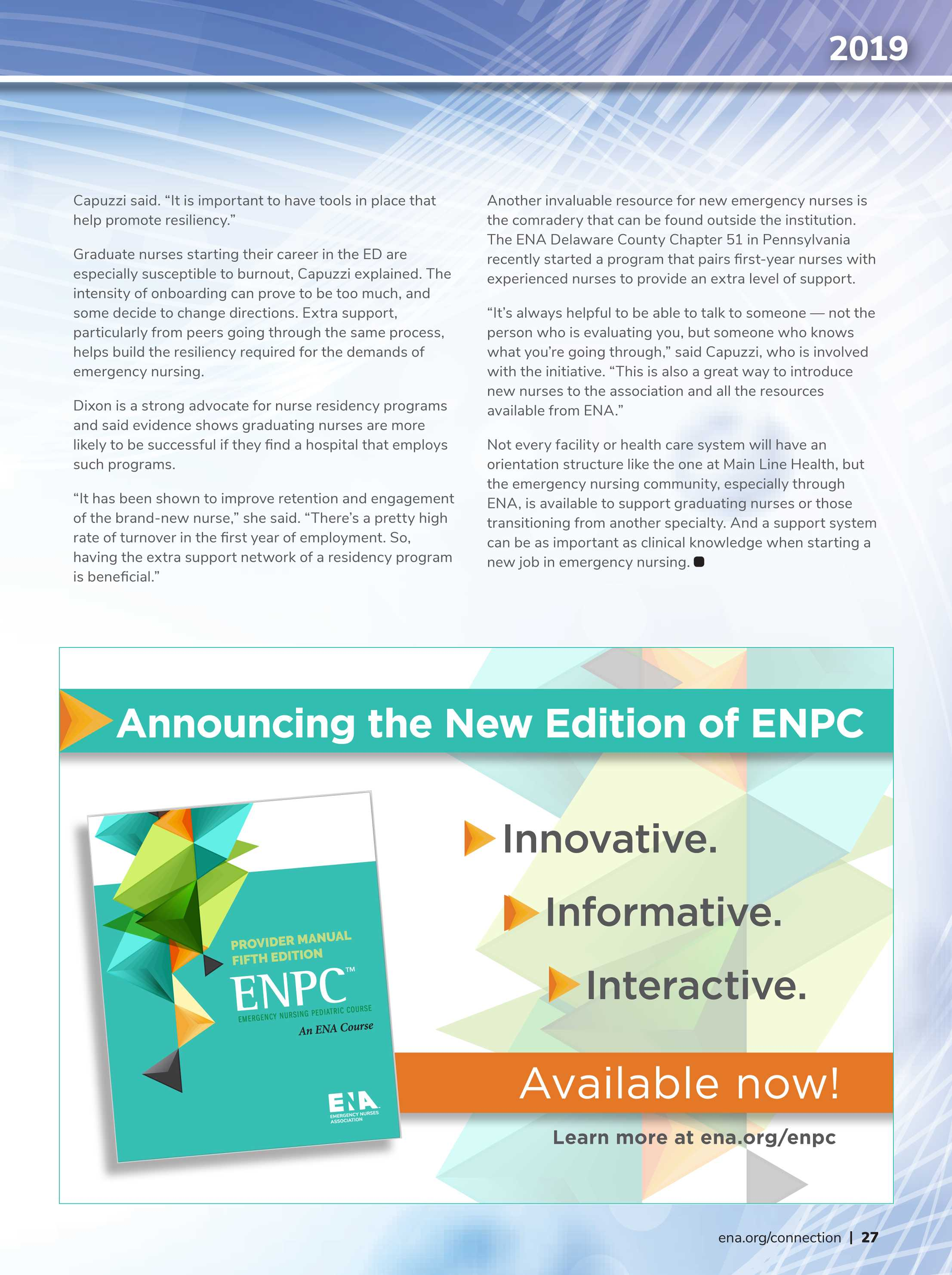 ENA Connection - February 2019 - page 27