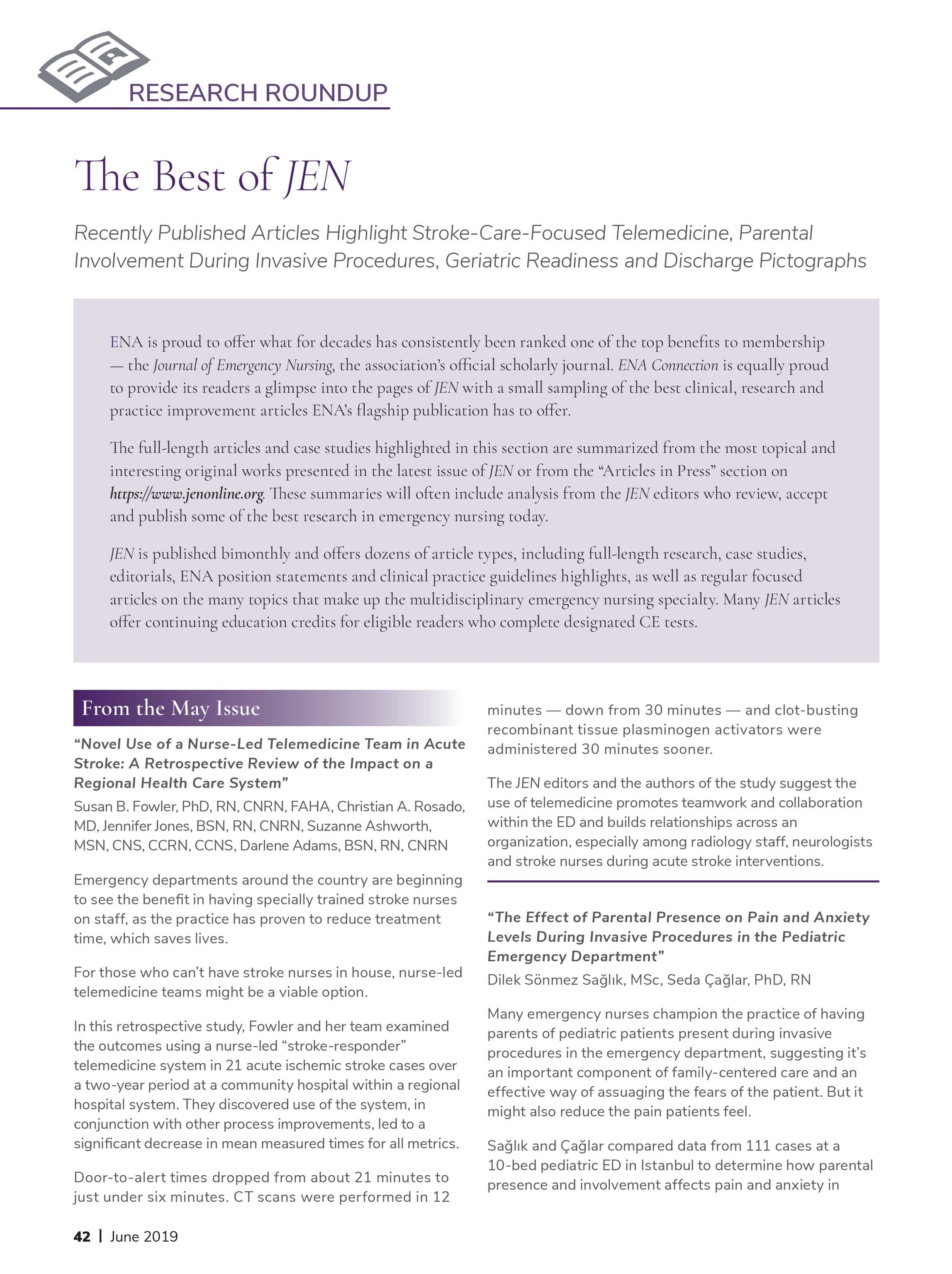 ENA Connection - June 2019 - page 42