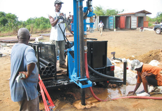 local teams are trained and equipped to do drilling and repairs
