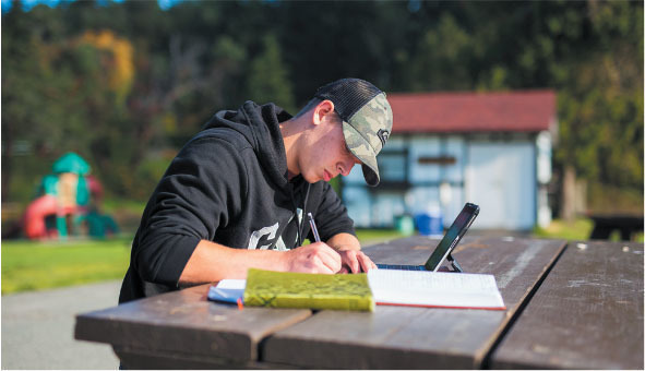 journal keeping is a core element of the program at capernwray harbour
