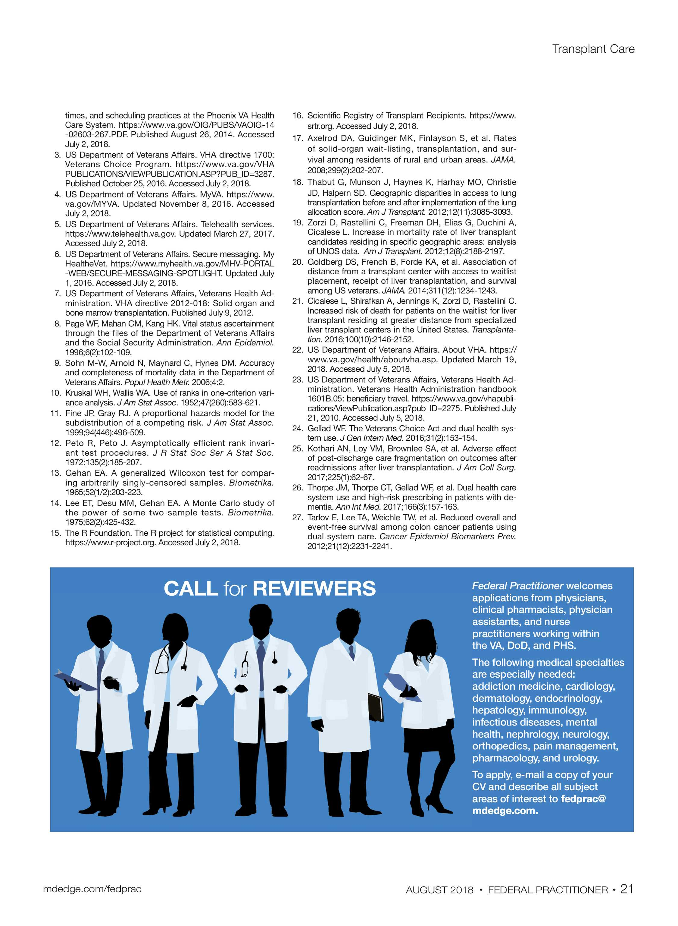 Federal Practitioner - AUGUST 2018 - page 21