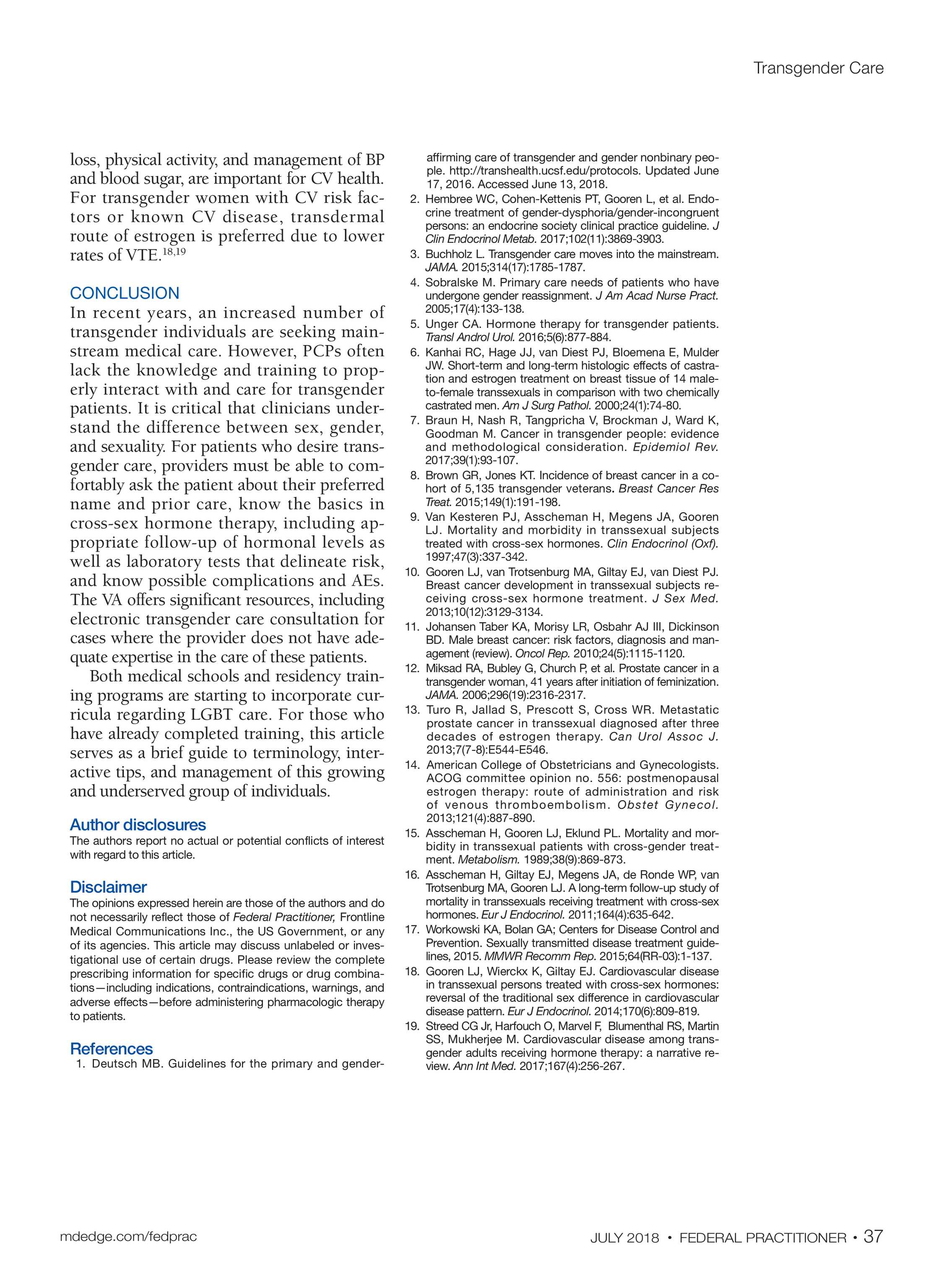 Federal Practitioner - July 2018 - page 38