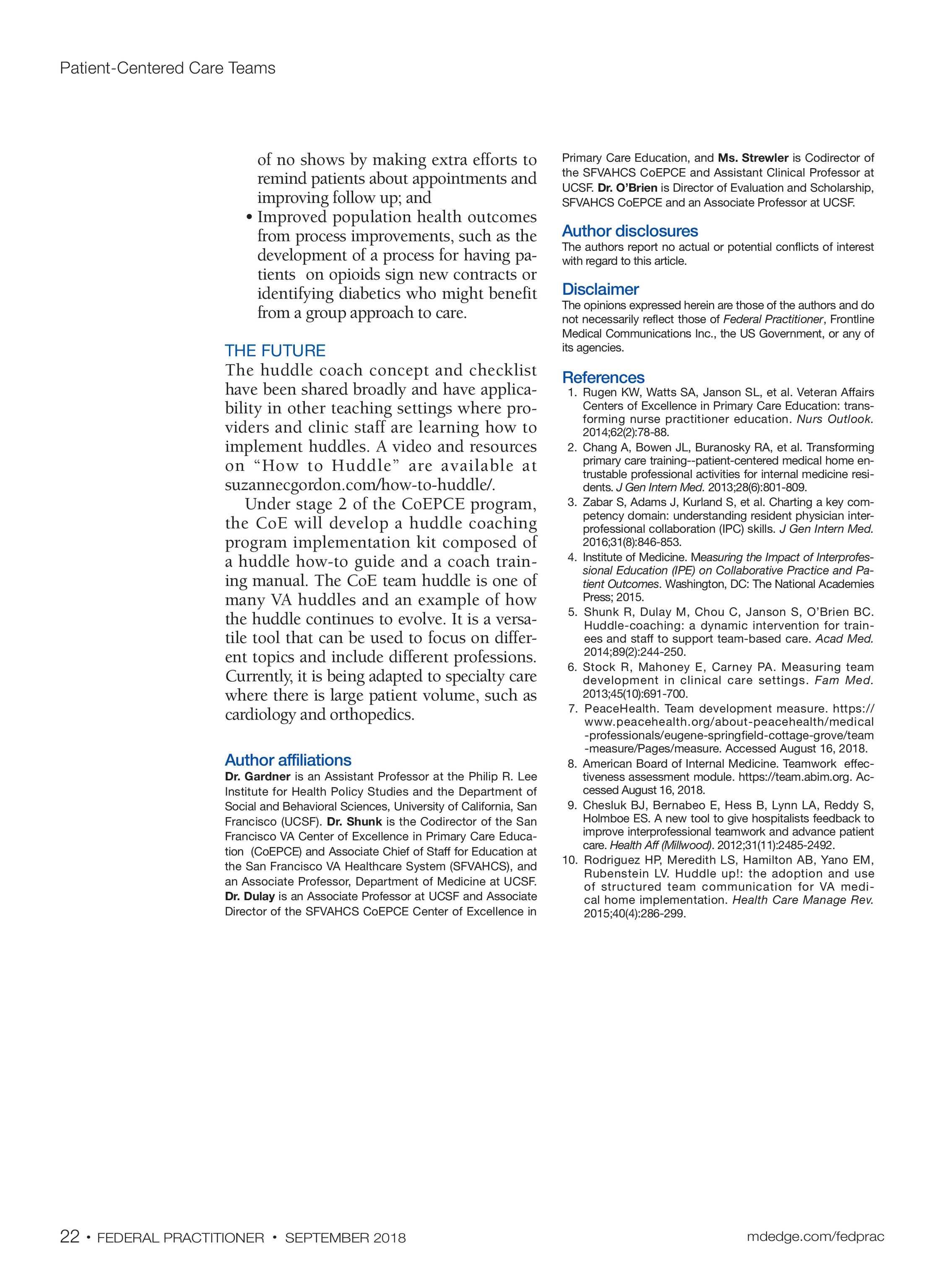 Federal Practitioner - September2018 - page 23