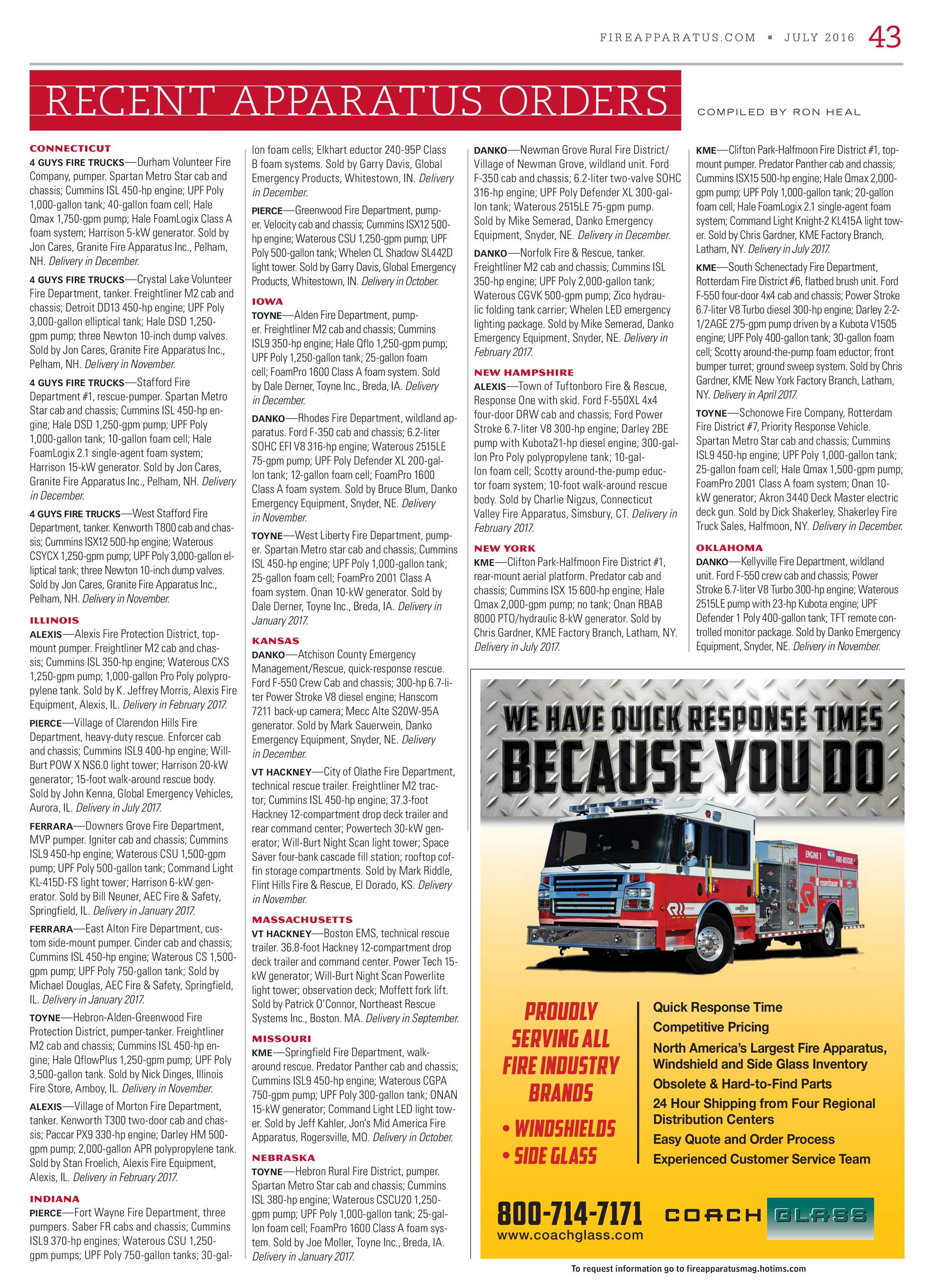 Fire Apparatus Magazine - July 2016 - page 43