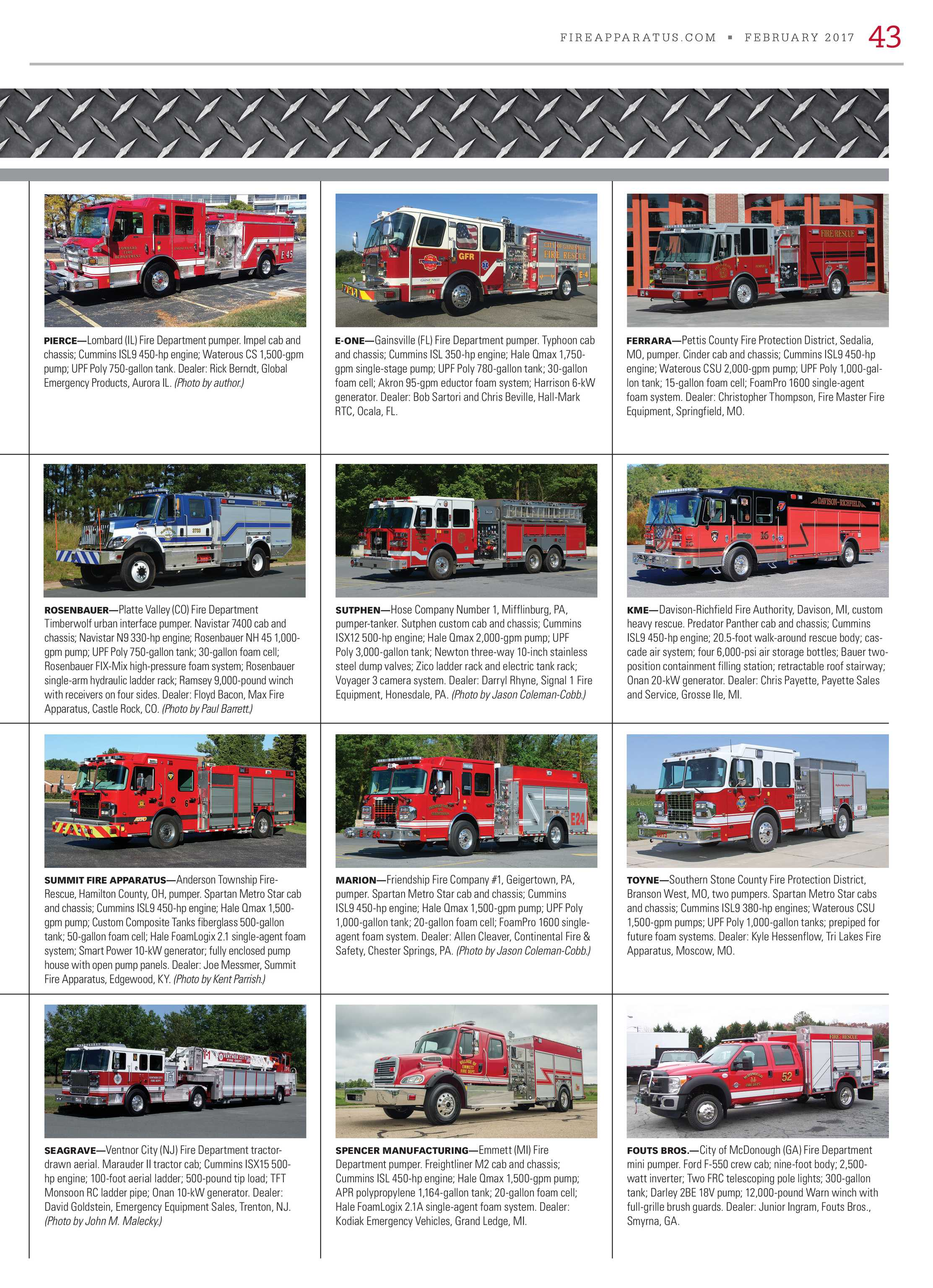 Fire Apparatus Magazine - February 2017 - page 43