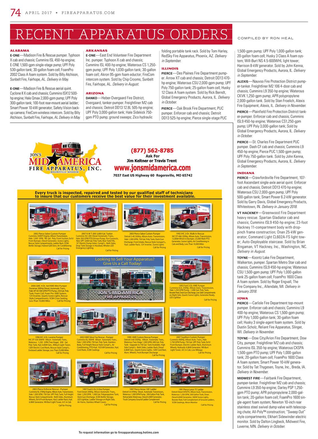 Fire Apparatus Magazine - April 2017 - page 75
