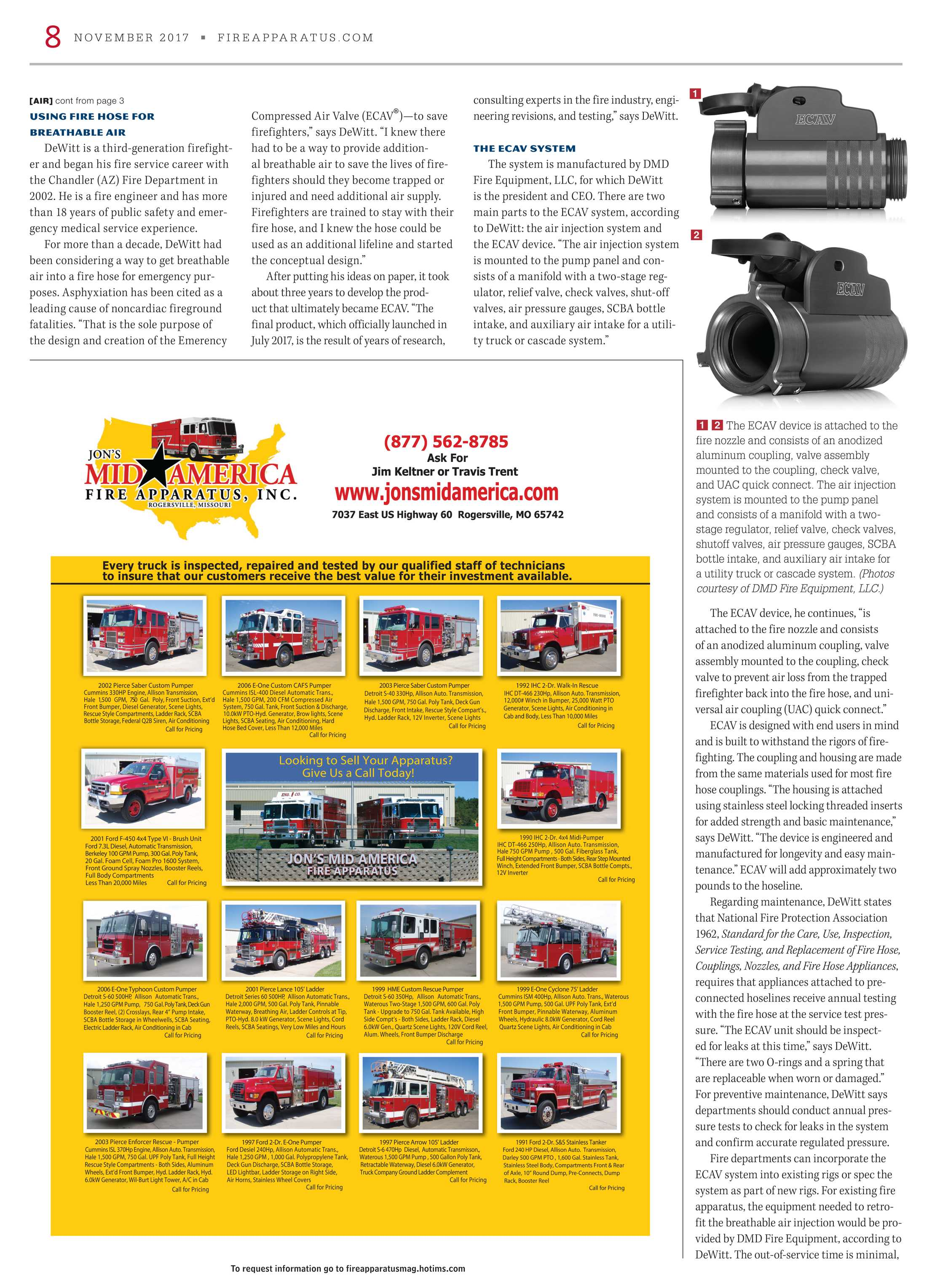 Fire Apparatus Magazine - November 2017 - page 8