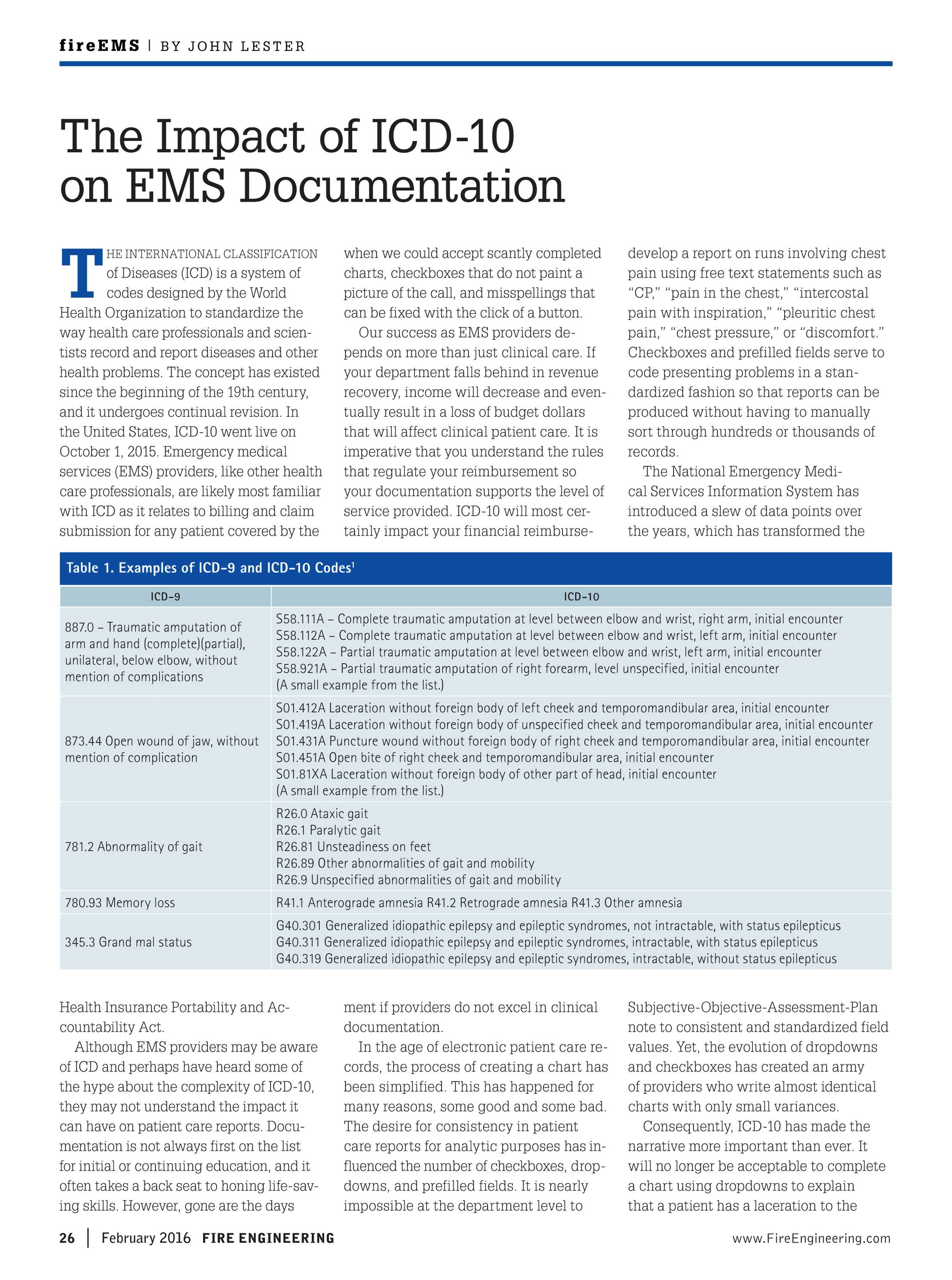 Fire Engineering - February 2016 - page 26