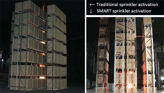 Comparison of Fire Sizes upon SMART and Traditional Sprinkler Activation