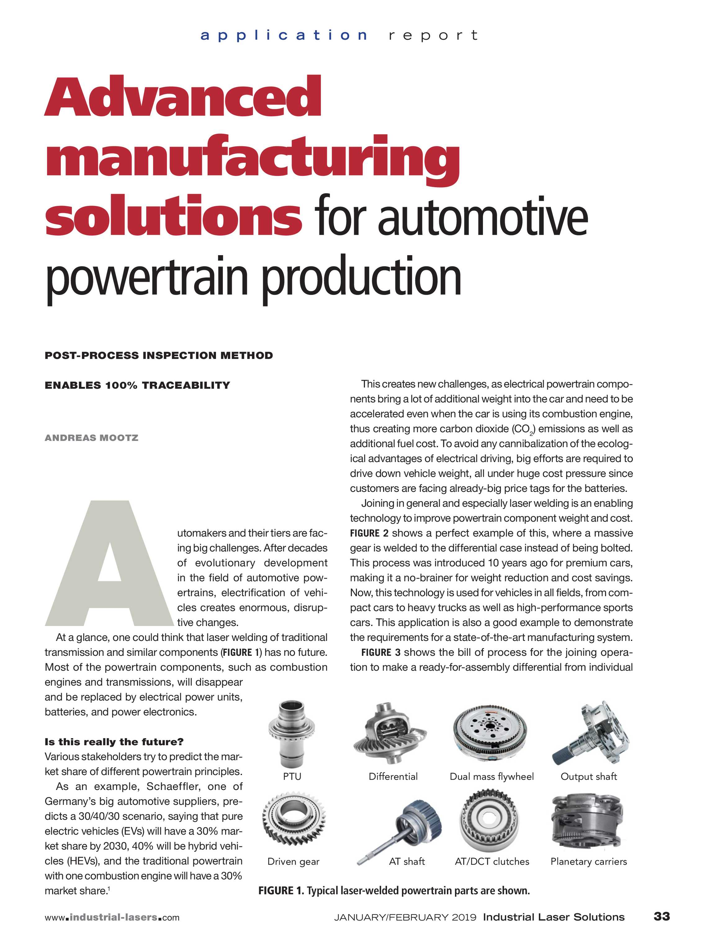 Industrial Laser Solutions - January/February 2019 - page 33