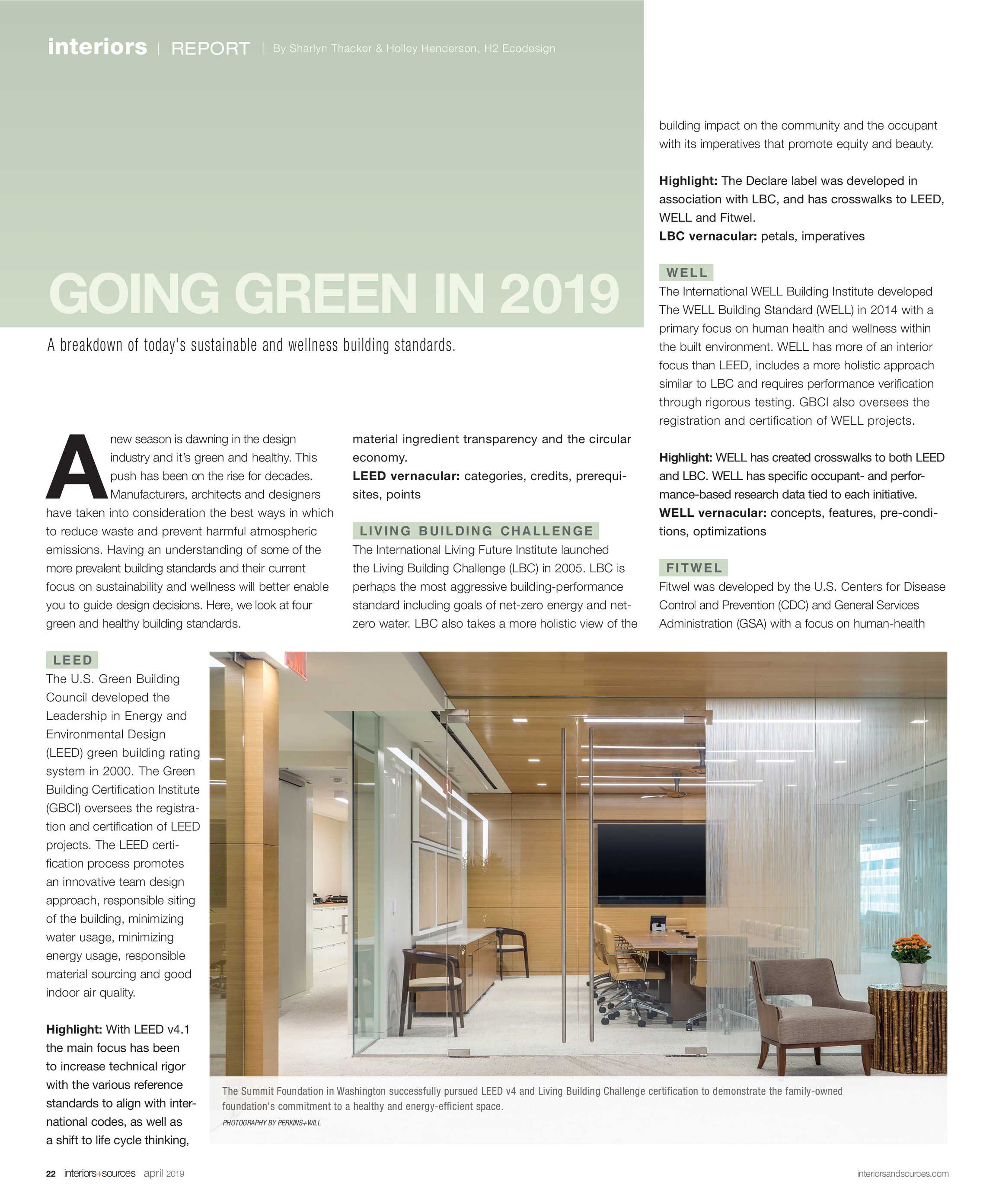 Interiors and Sources - April 2019 - page 22