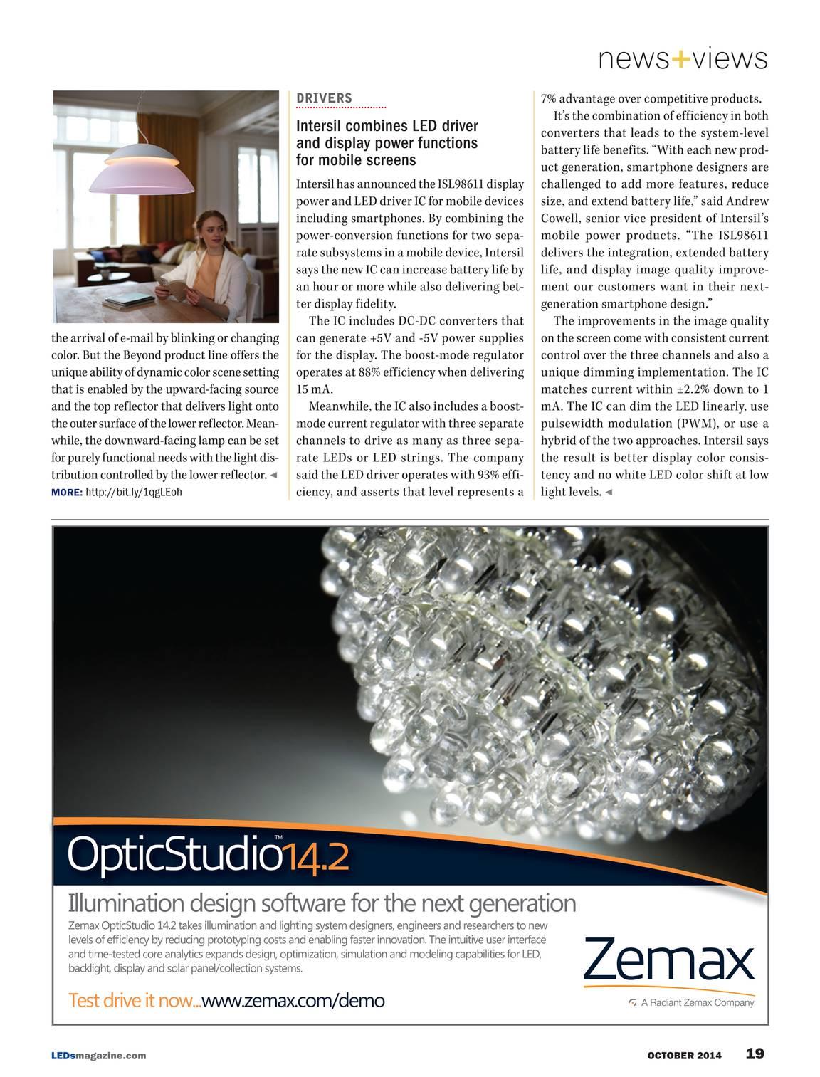 LEDs Magazine - October 2014 - page 20