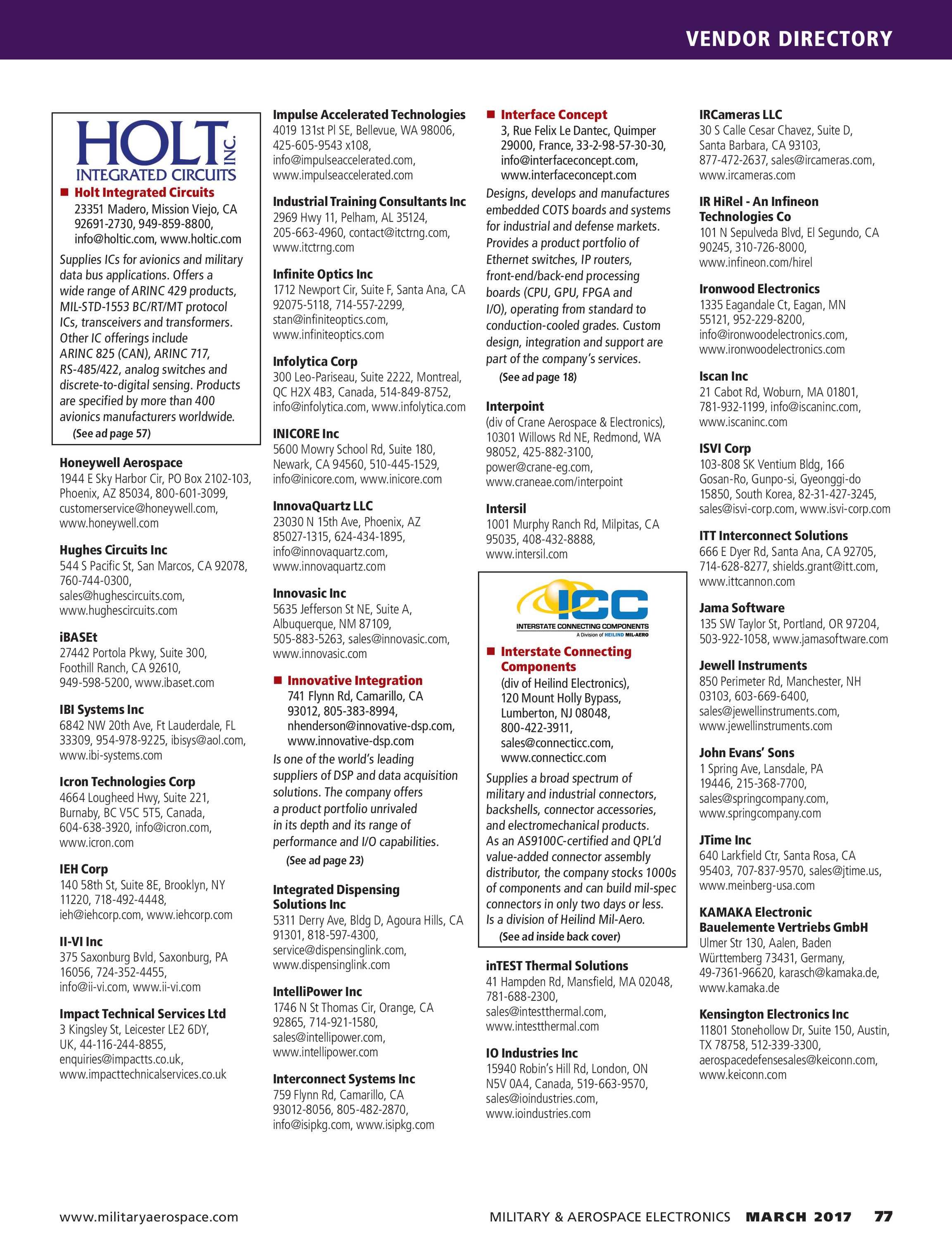 Military & Aerospace Electronics - 2017 MAE Buyers Guide