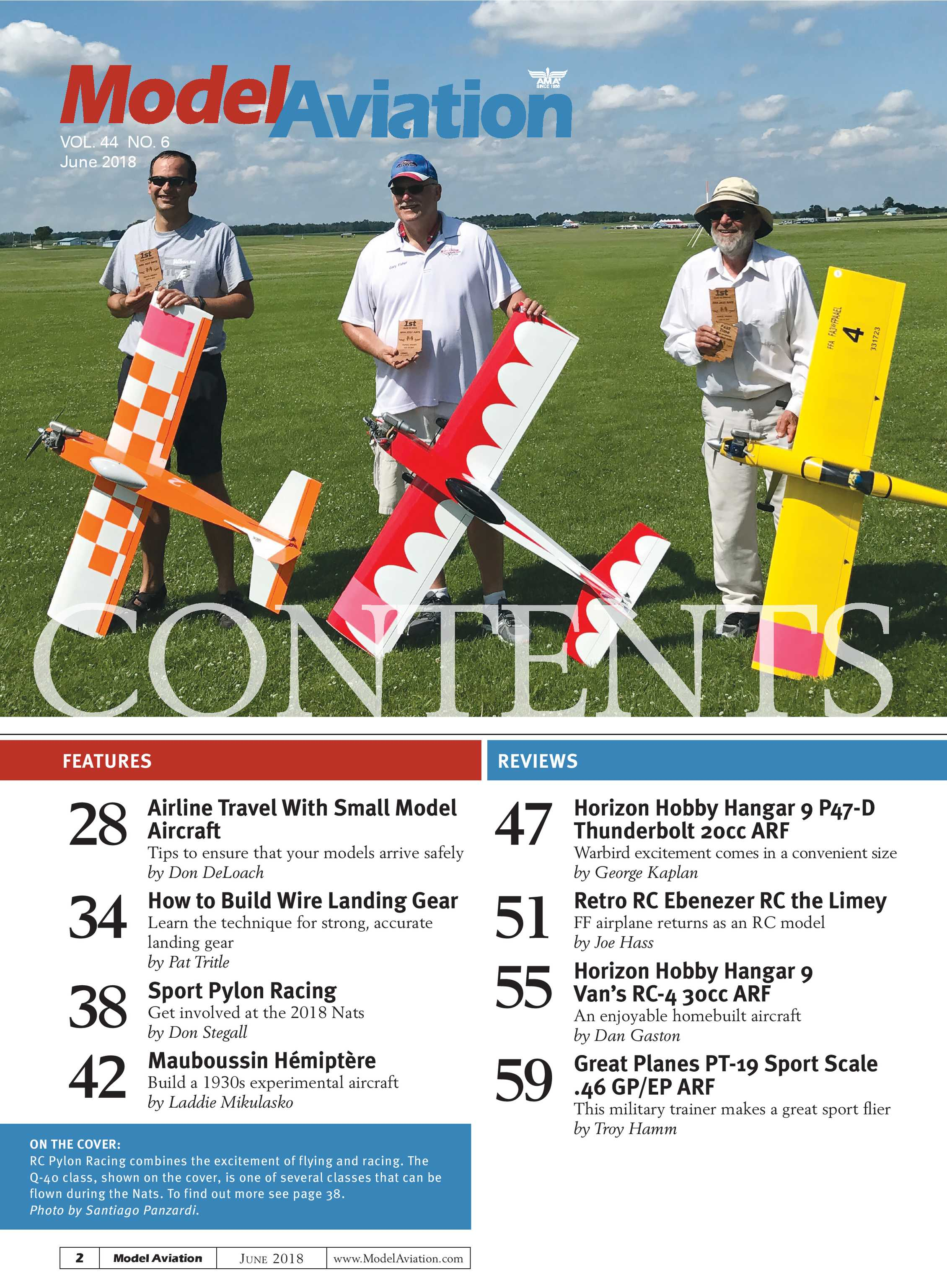 Model Aviation - June 2018 - page Cover
