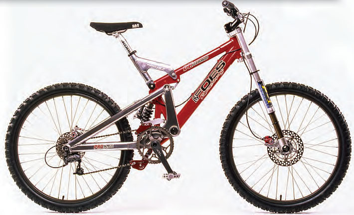 the foes dh slammer was one of the hottest bikes