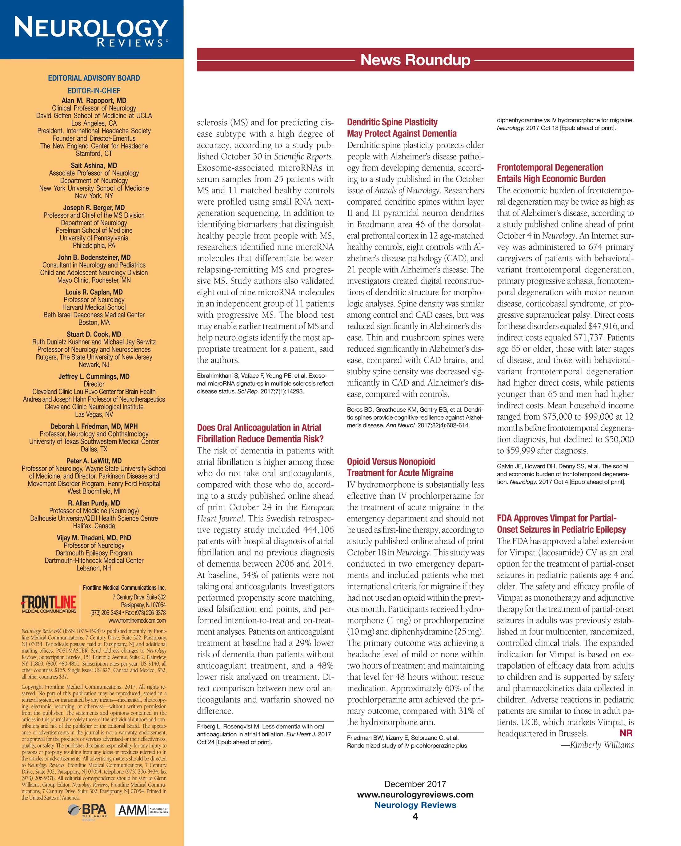 Neurology Reviews - Dec 2017 - page 4