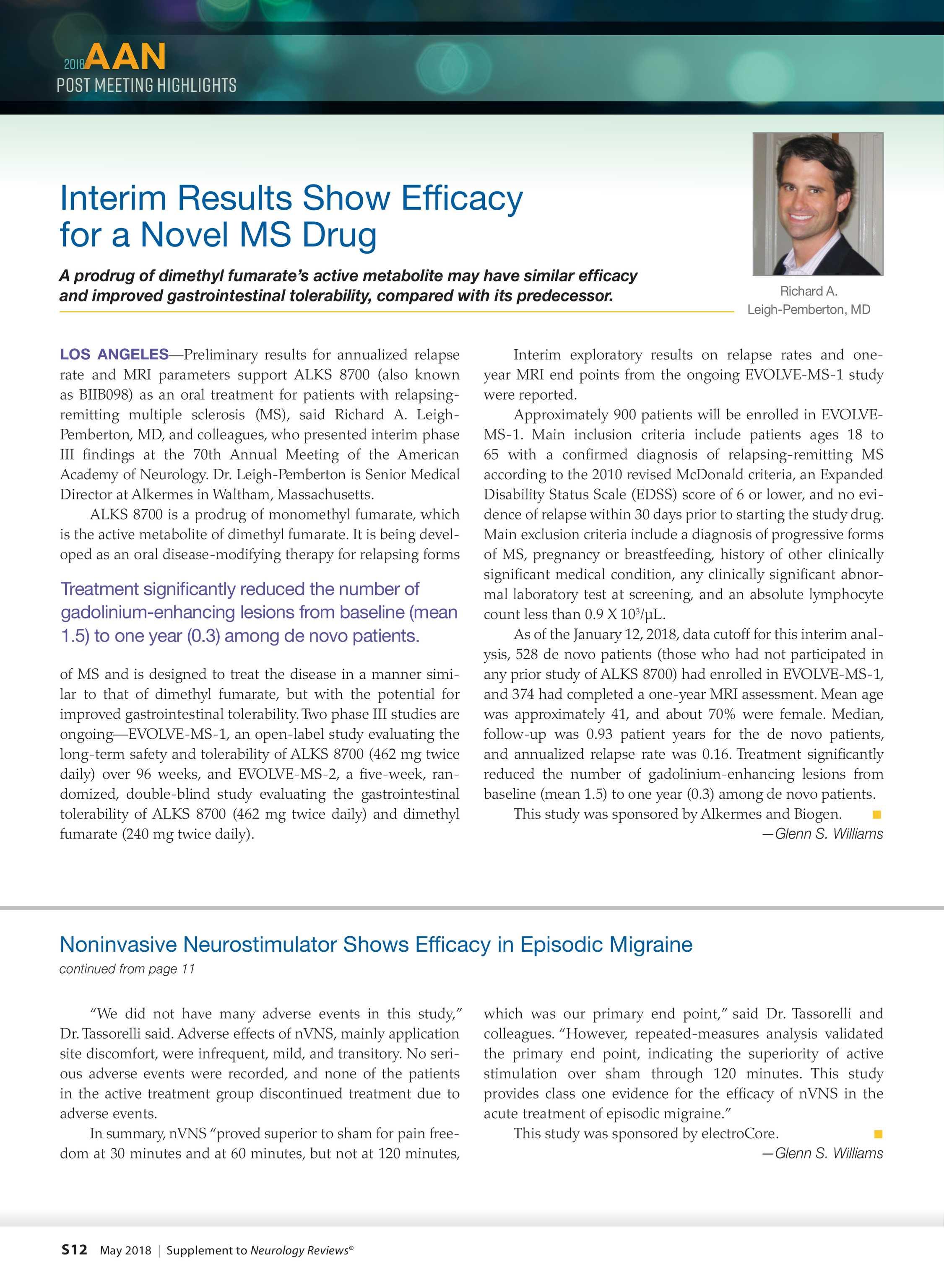 Neurology Reviews - NR AAN Post Meeting 0518 - page S12