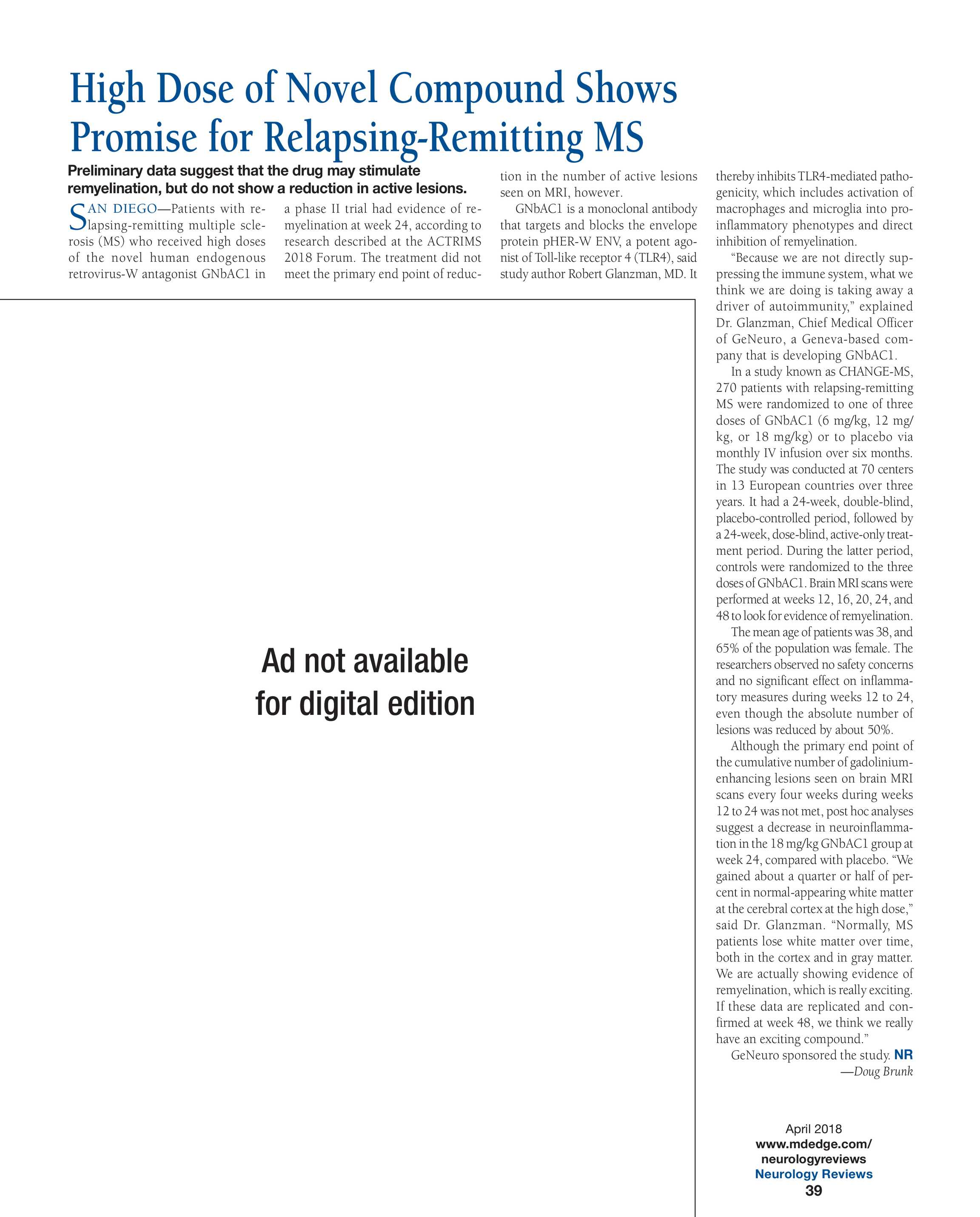 Neurology Reviews - NR April 2018 - page 35