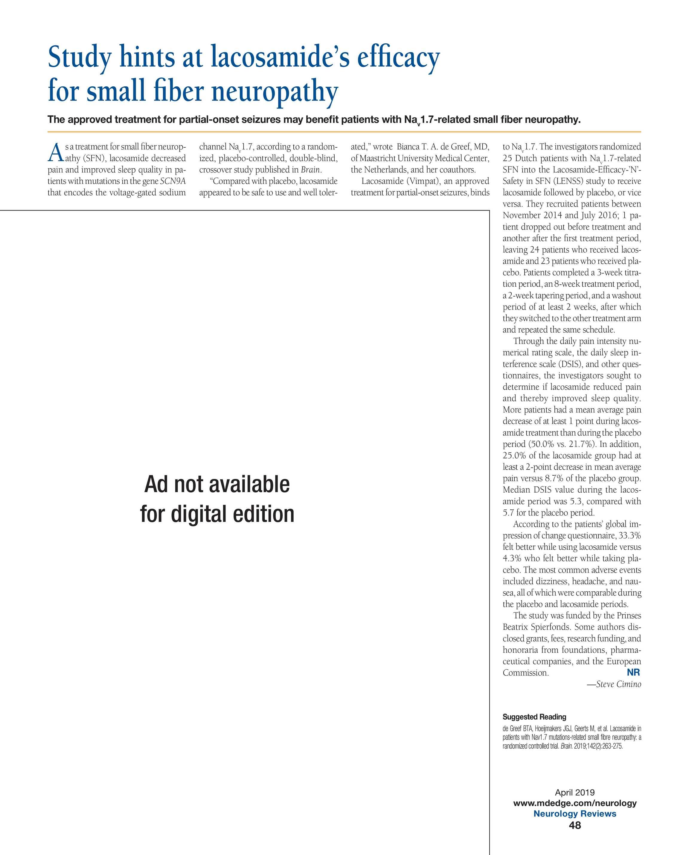 Neurology Reviews - NR APRIL 2019 - page 48