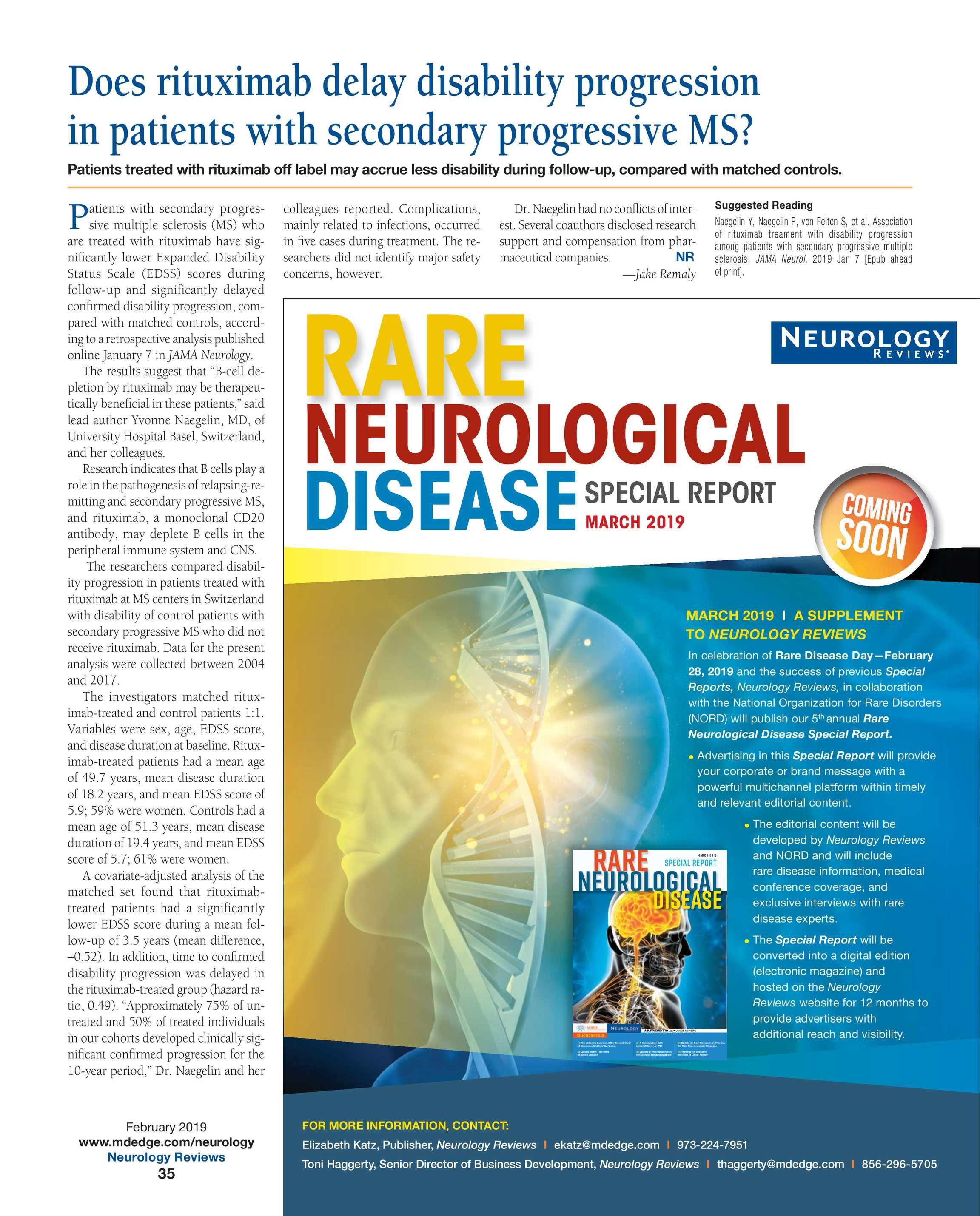 Neurology Reviews - NR Feb 2019 - page 35