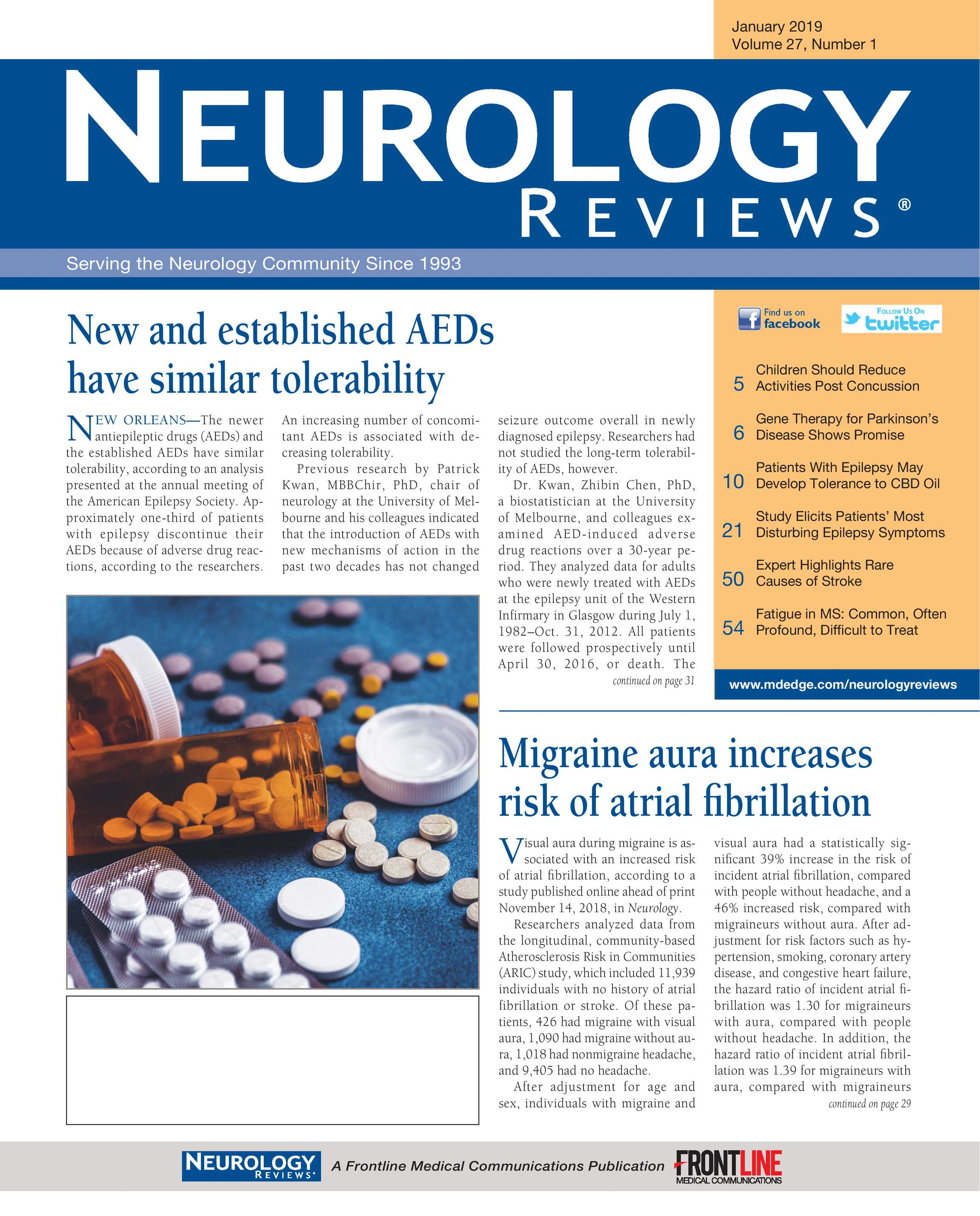 Neurology Reviews - NR JAN 2019 - page 1
