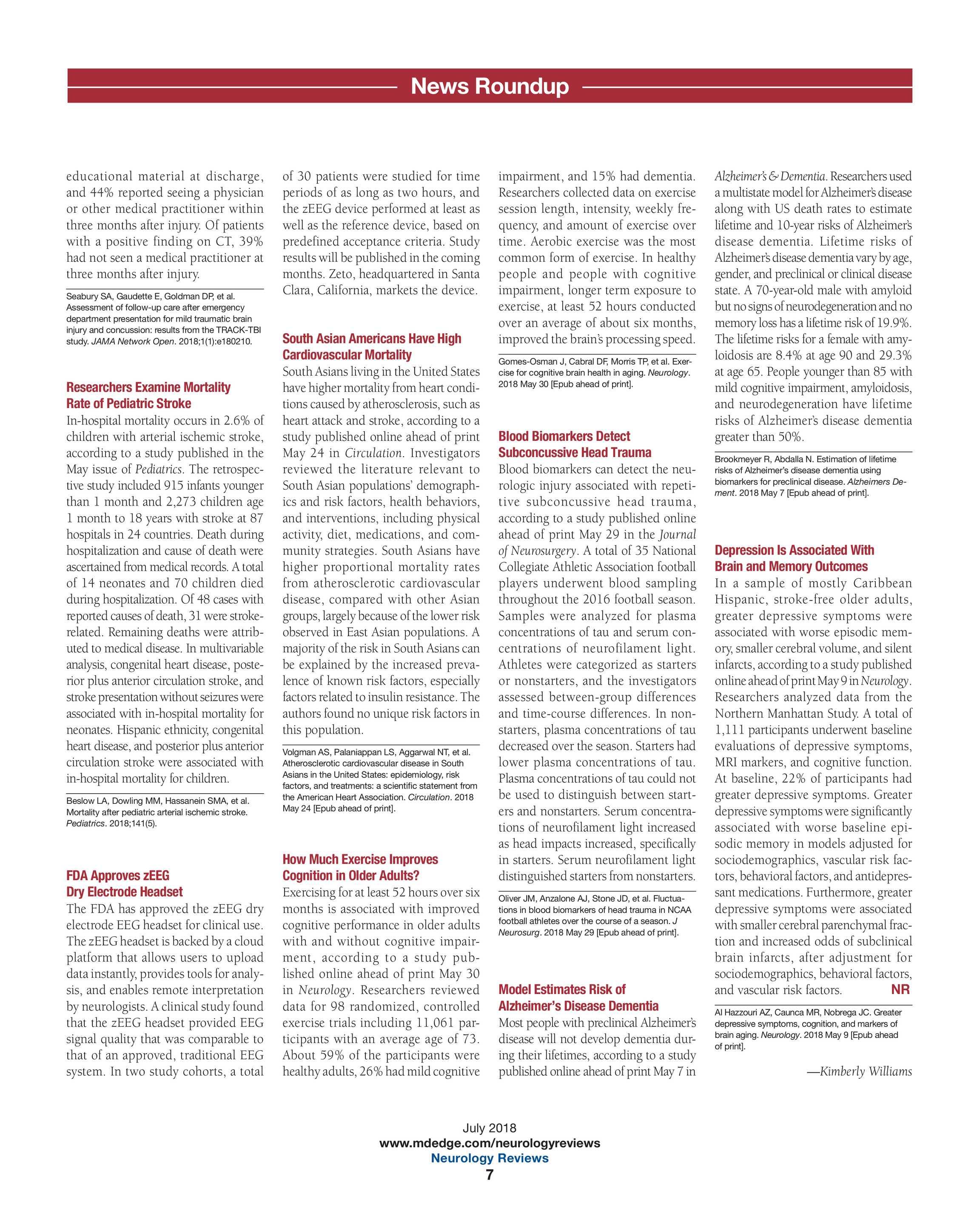 Neurology Reviews - NR July 2018 - page 6