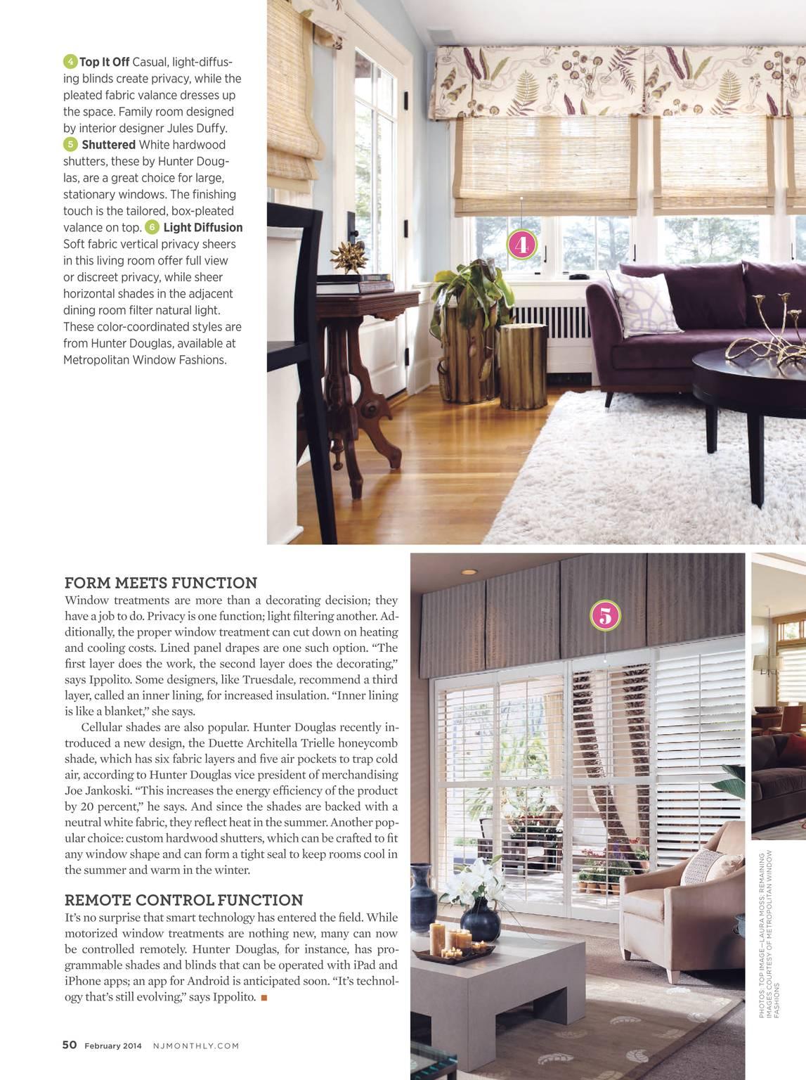 metropolitan window fashions window treatments page 50 nj monthly february 2014 page 49