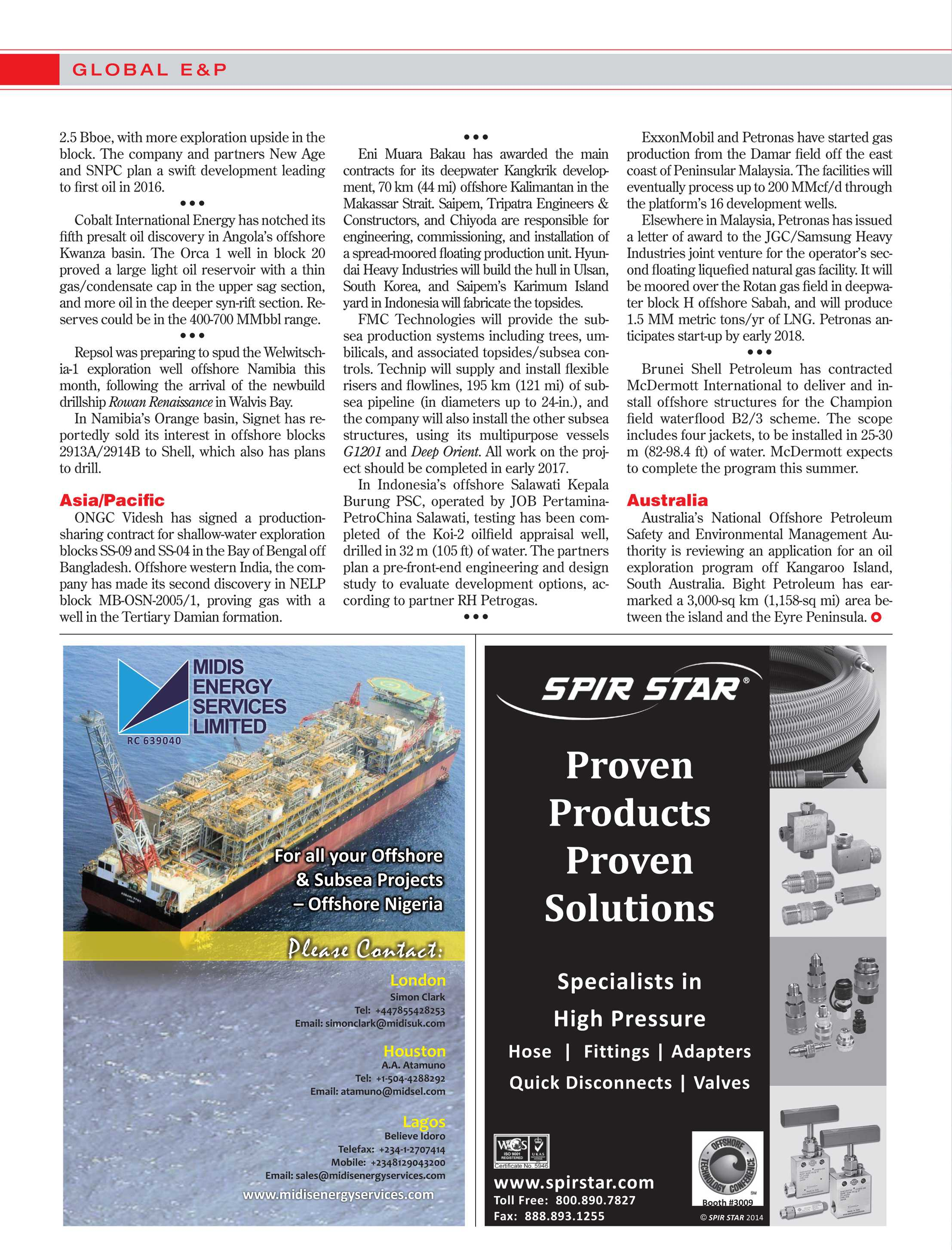 Offshore Magazine - April 2014 - page 18