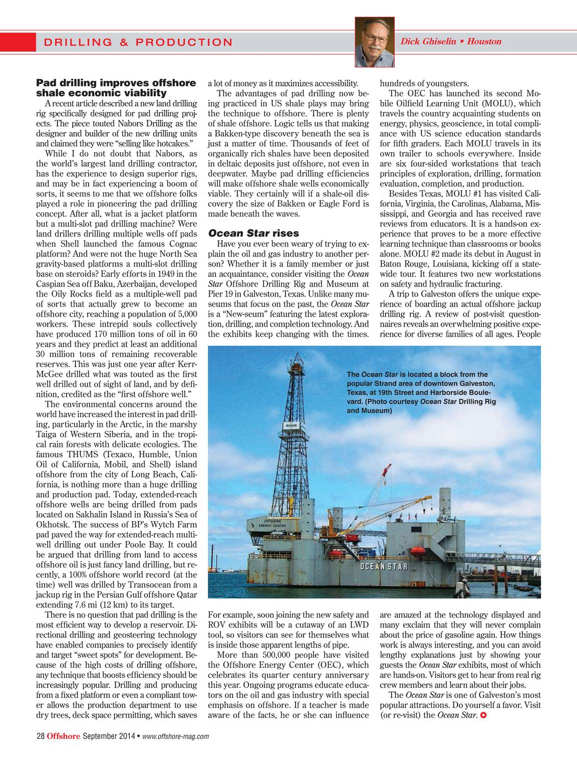 Offshore Magazine - September 2014 - page 27