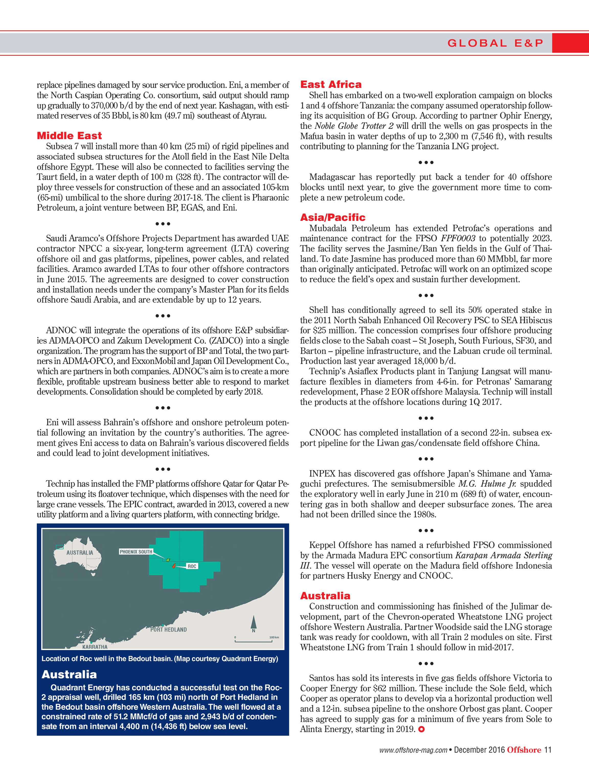 Offshore Magazine - December 2016 - page 11
